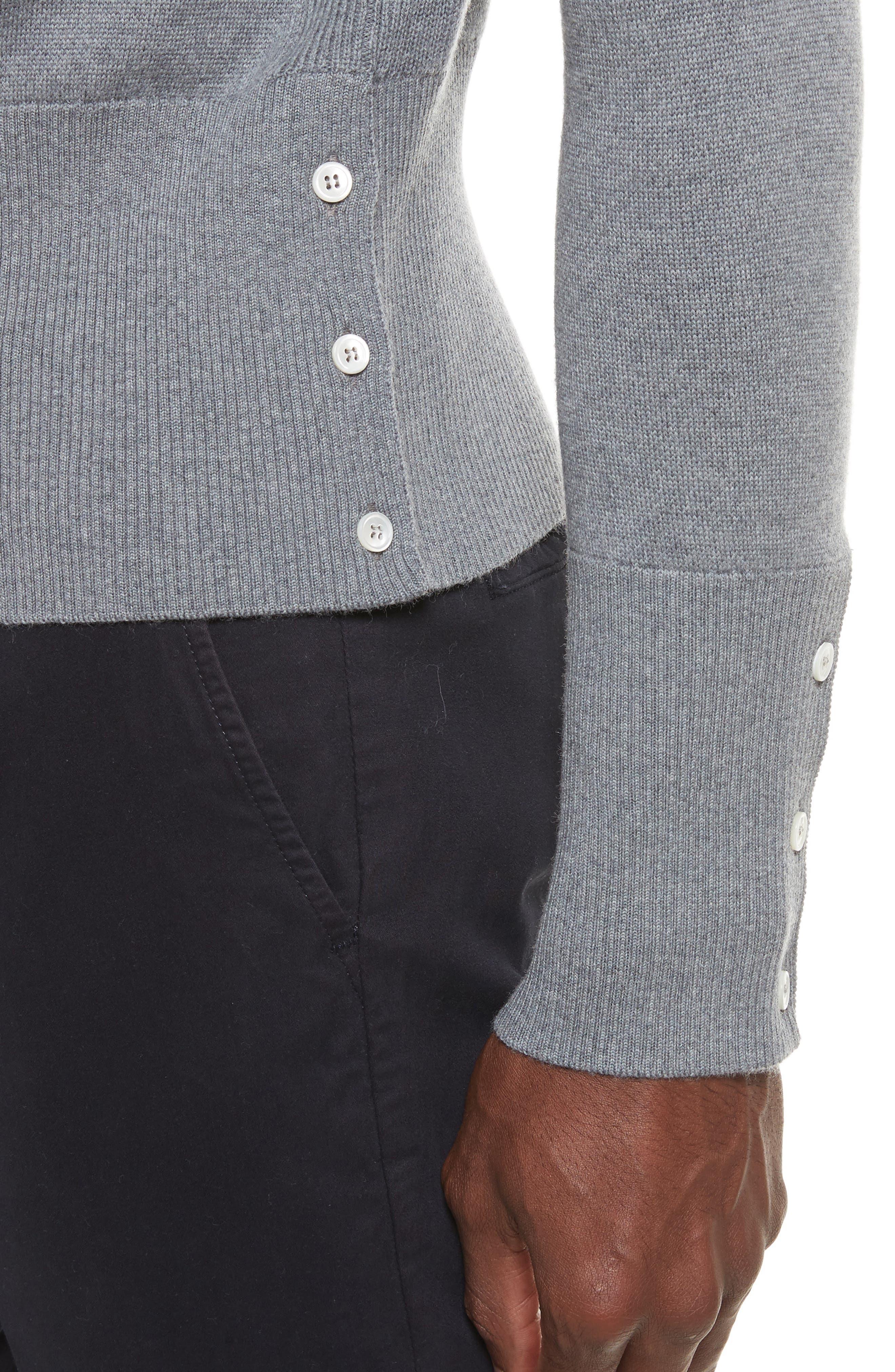 Raglan Merino Wool Sweater,                             Alternate thumbnail 4, color,                             020