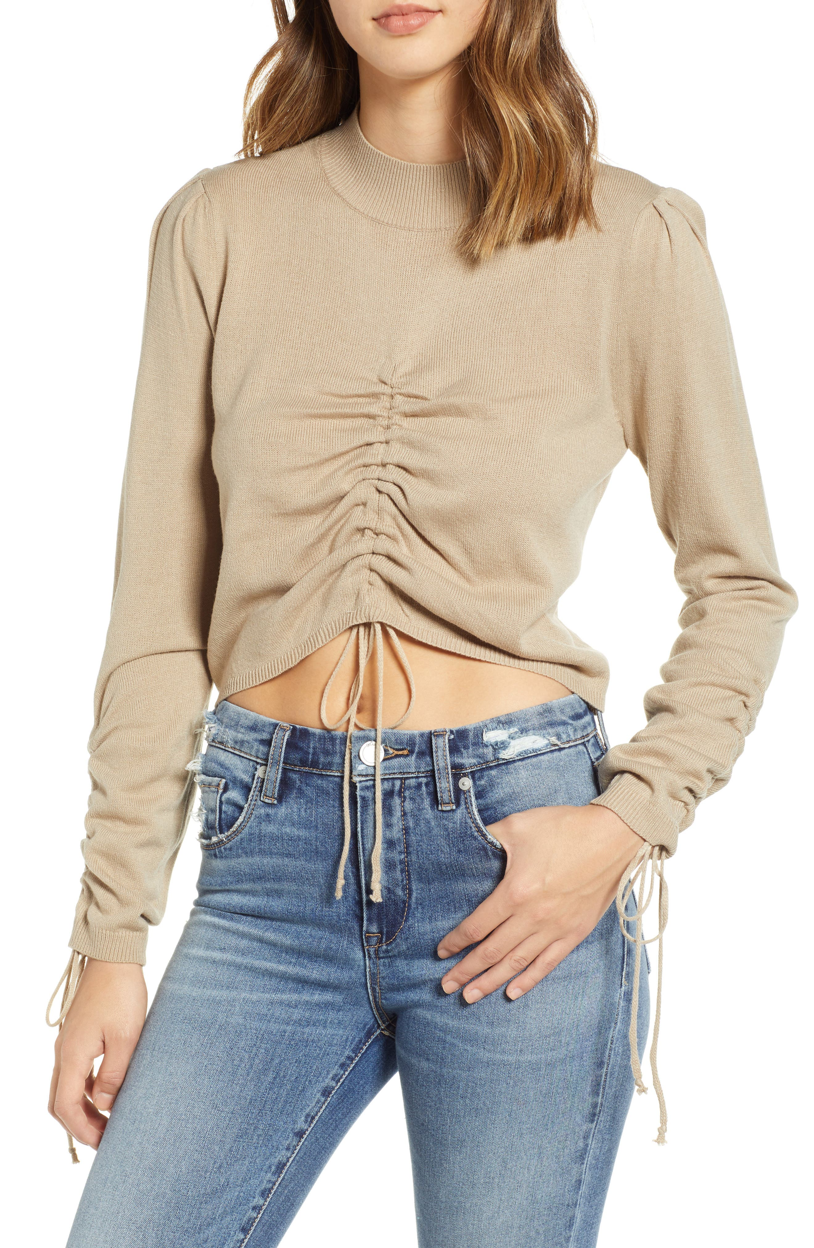 Ruched Front Sweater, Main, color, 250