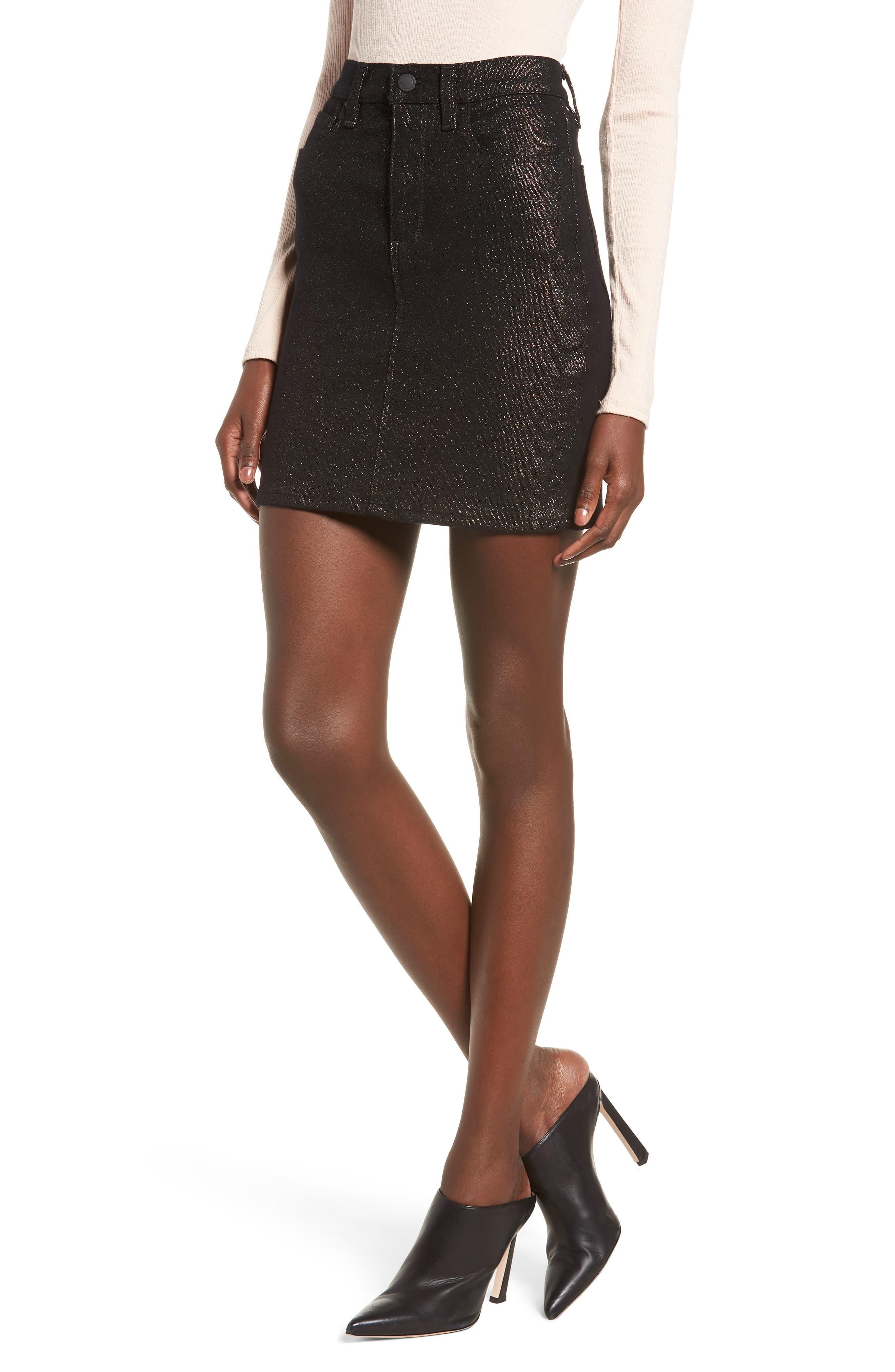 Lulu Sparkle Miniskirt,                         Main,                         color, GOLD STELLAR