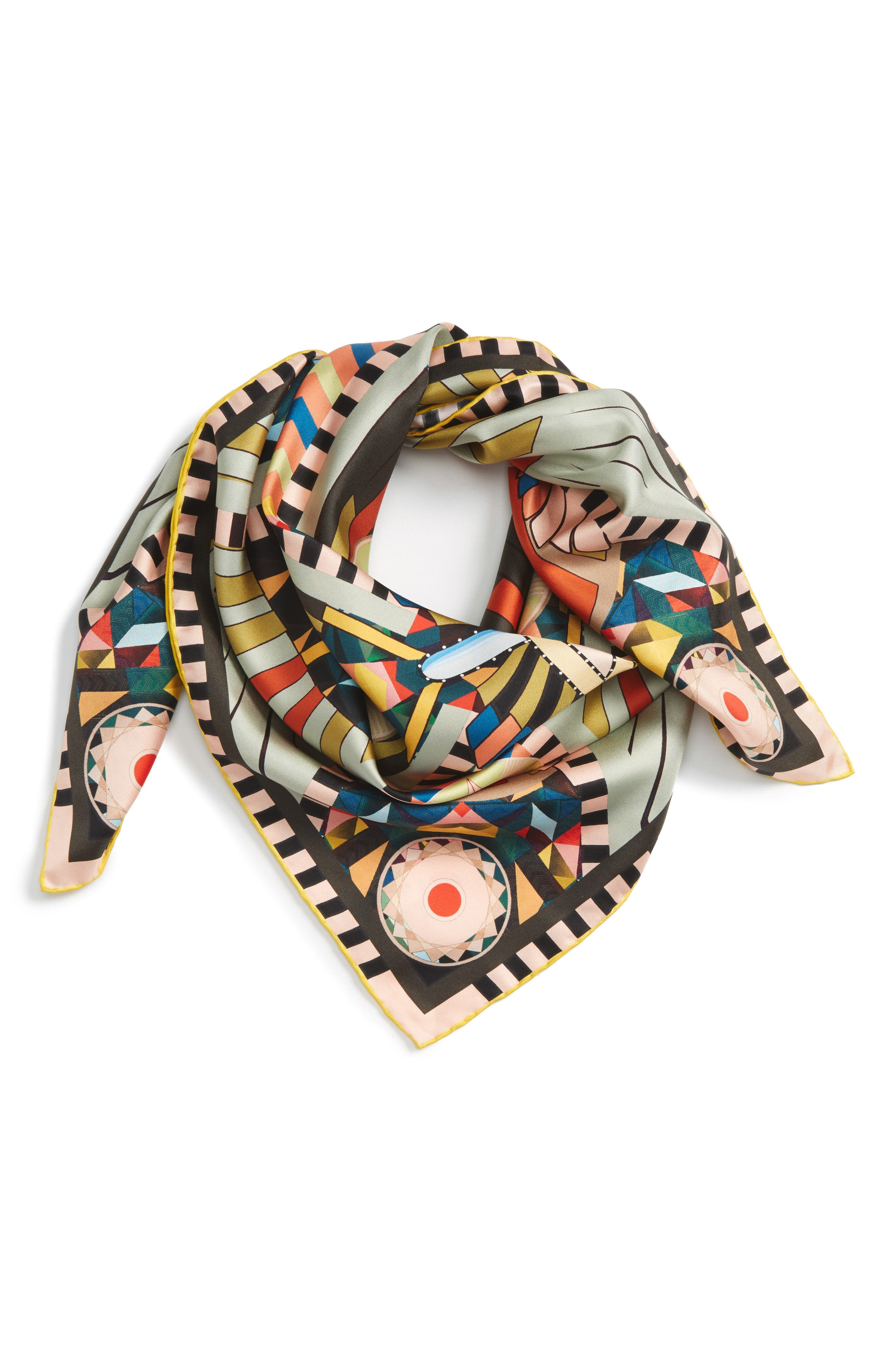 Egyptian Wings Square Scarf,                             Main thumbnail 1, color,                             300
