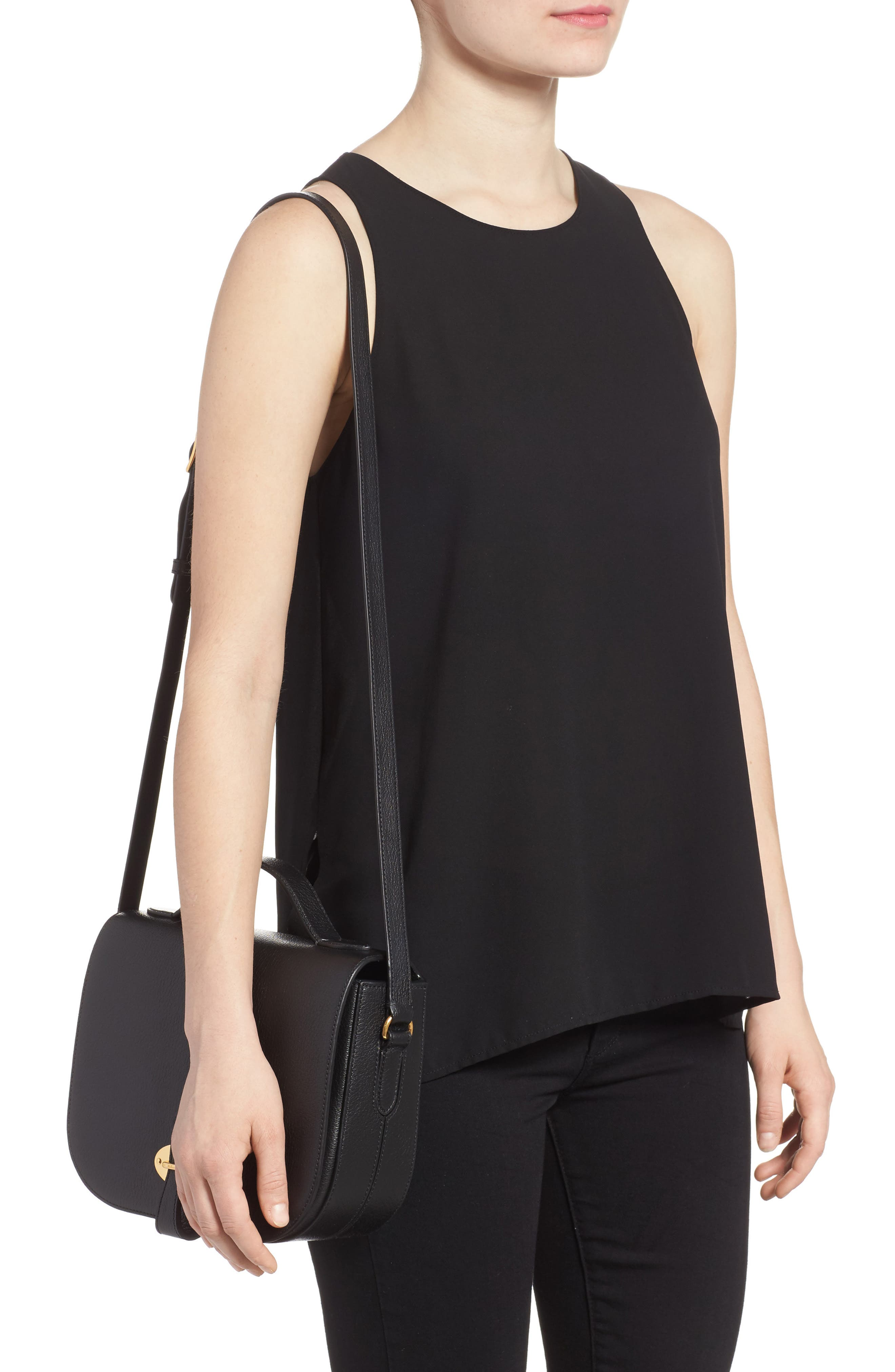 Tenby Calfskin Leather Crossbody Bag,                             Alternate thumbnail 2, color,                             001
