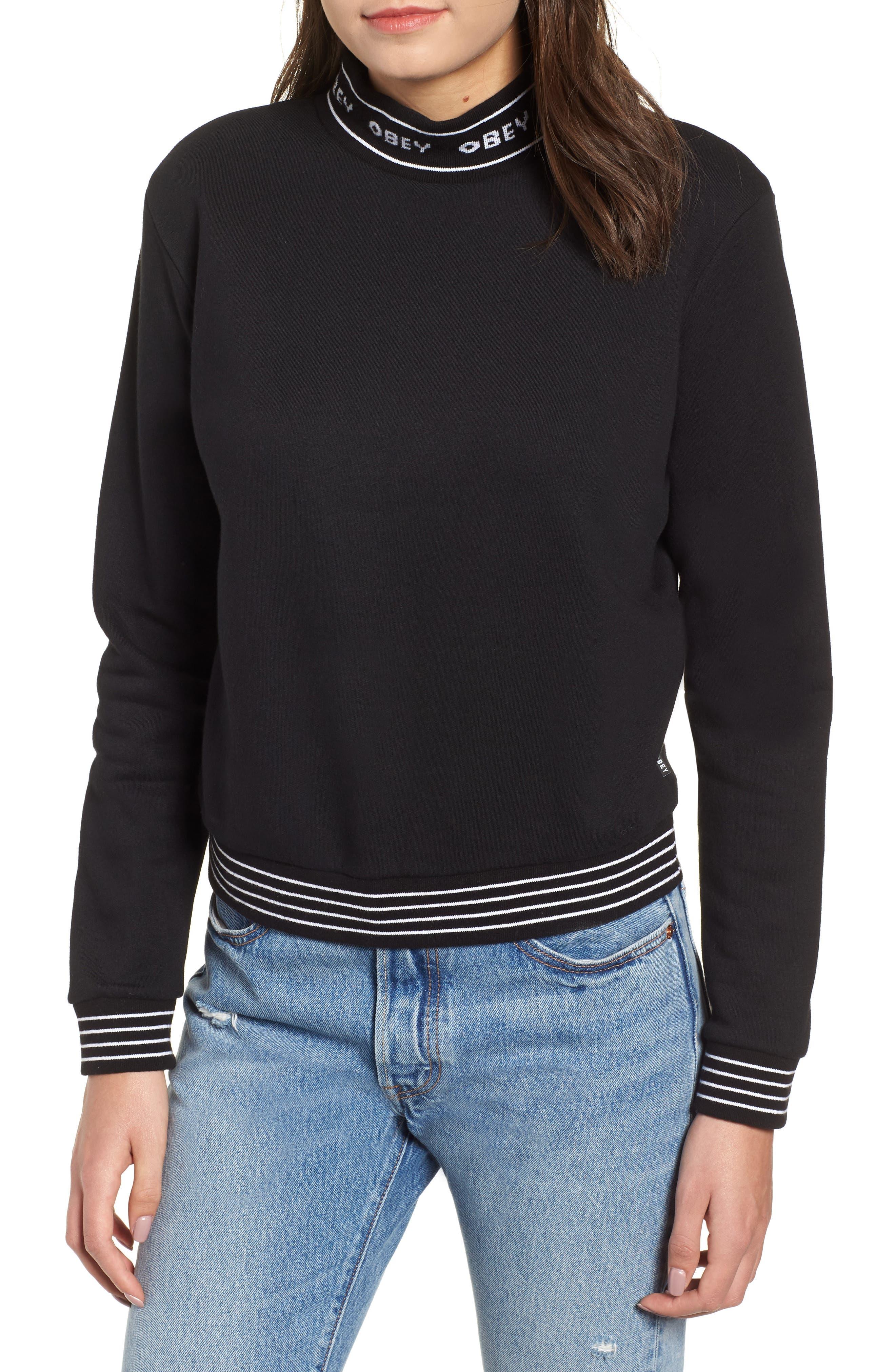 Obey Quincy Cotton Blend Sweatshirt