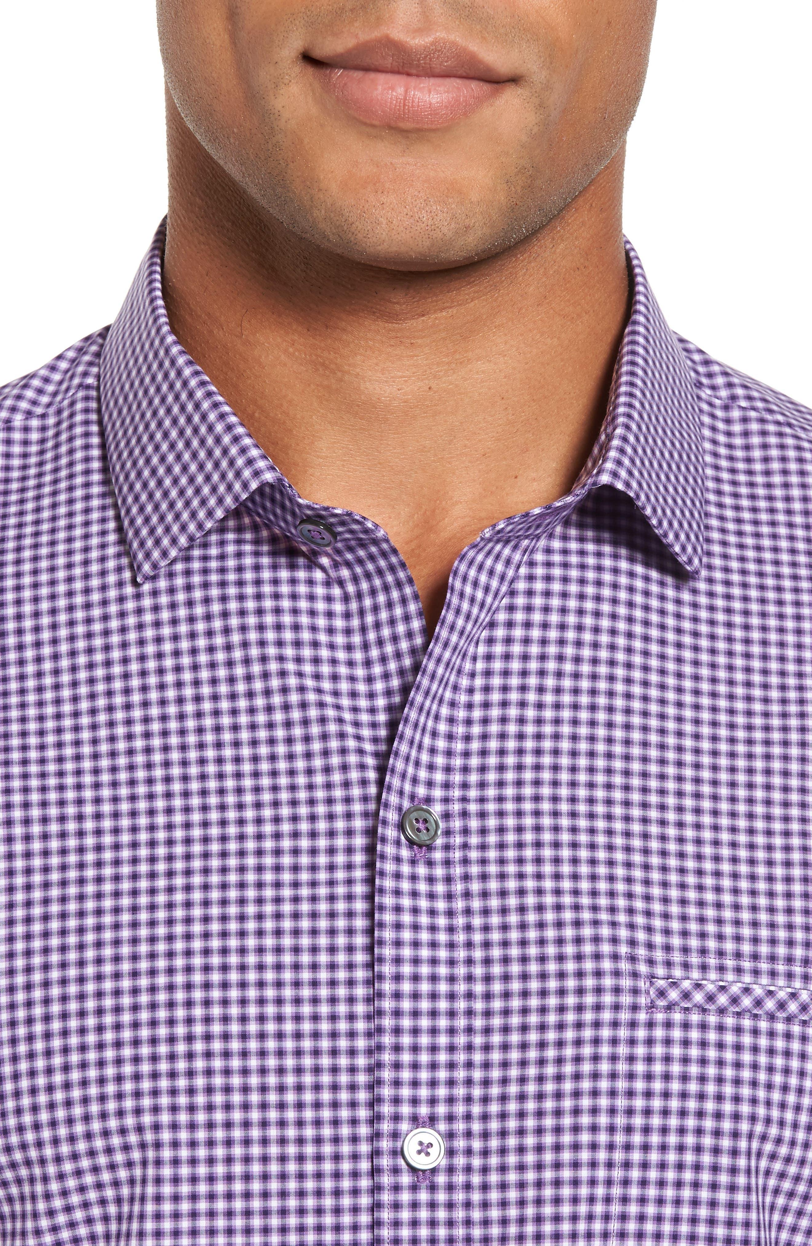 Pawlata Slim Fit Check Sport Shirt,                             Alternate thumbnail 4, color,                             500