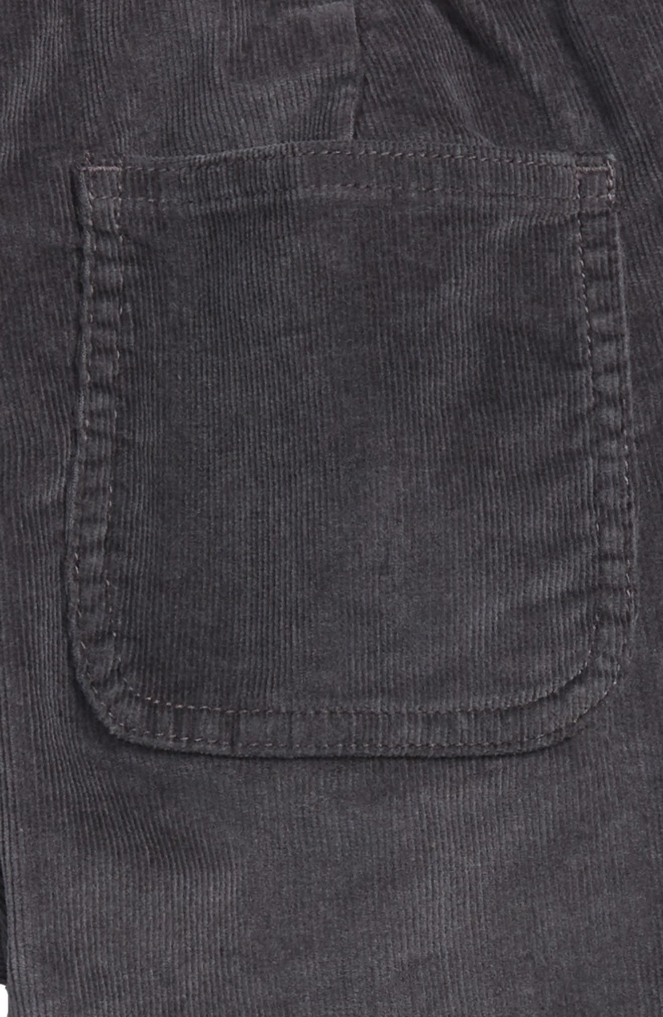 Corduroy Pull-On Pants,                             Alternate thumbnail 3, color,                             COAL GREY