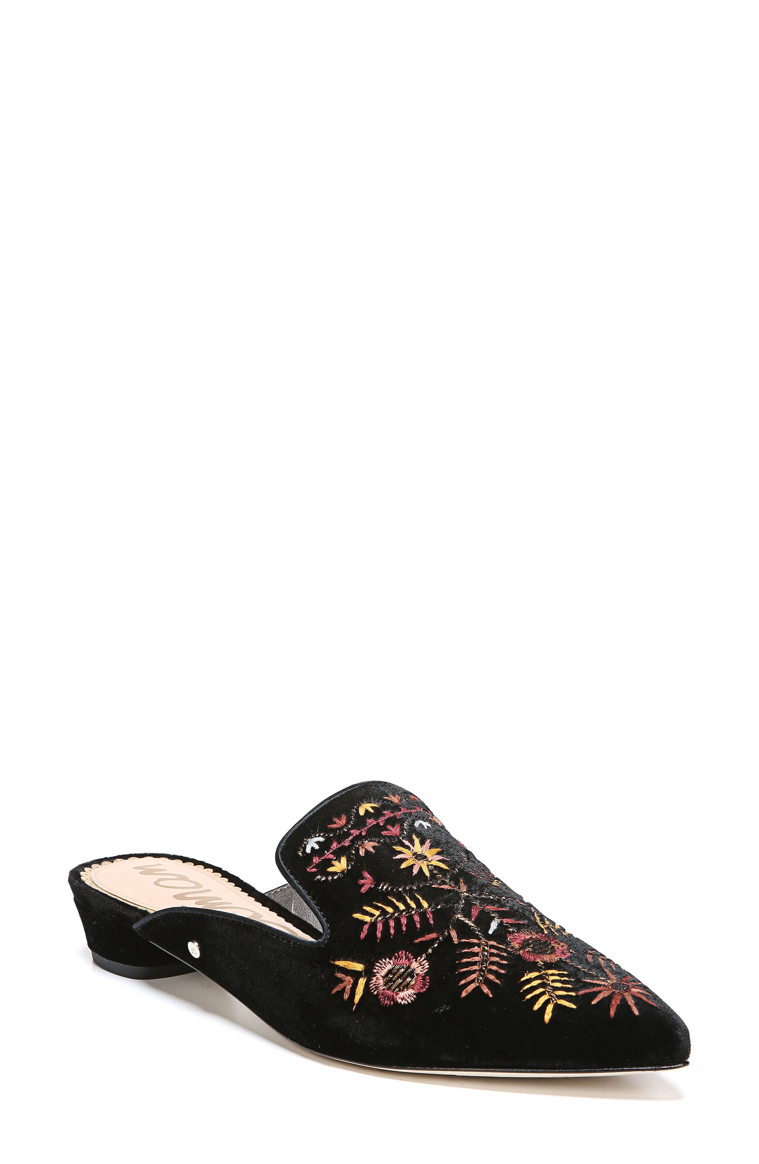 Ansley Pointy Toe Loafer Mule,                             Main thumbnail 1, color,                             001