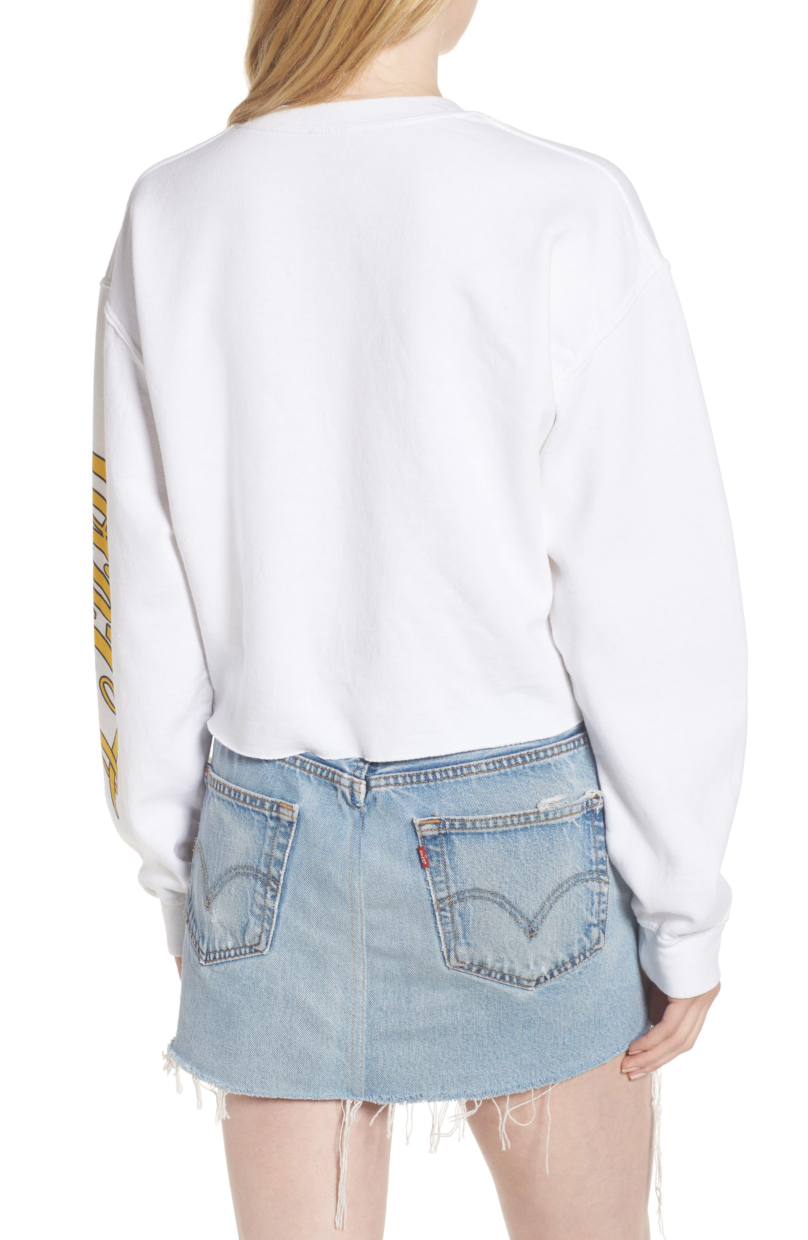Coke Stars Crop Sweatshirt,                             Alternate thumbnail 2, color,
