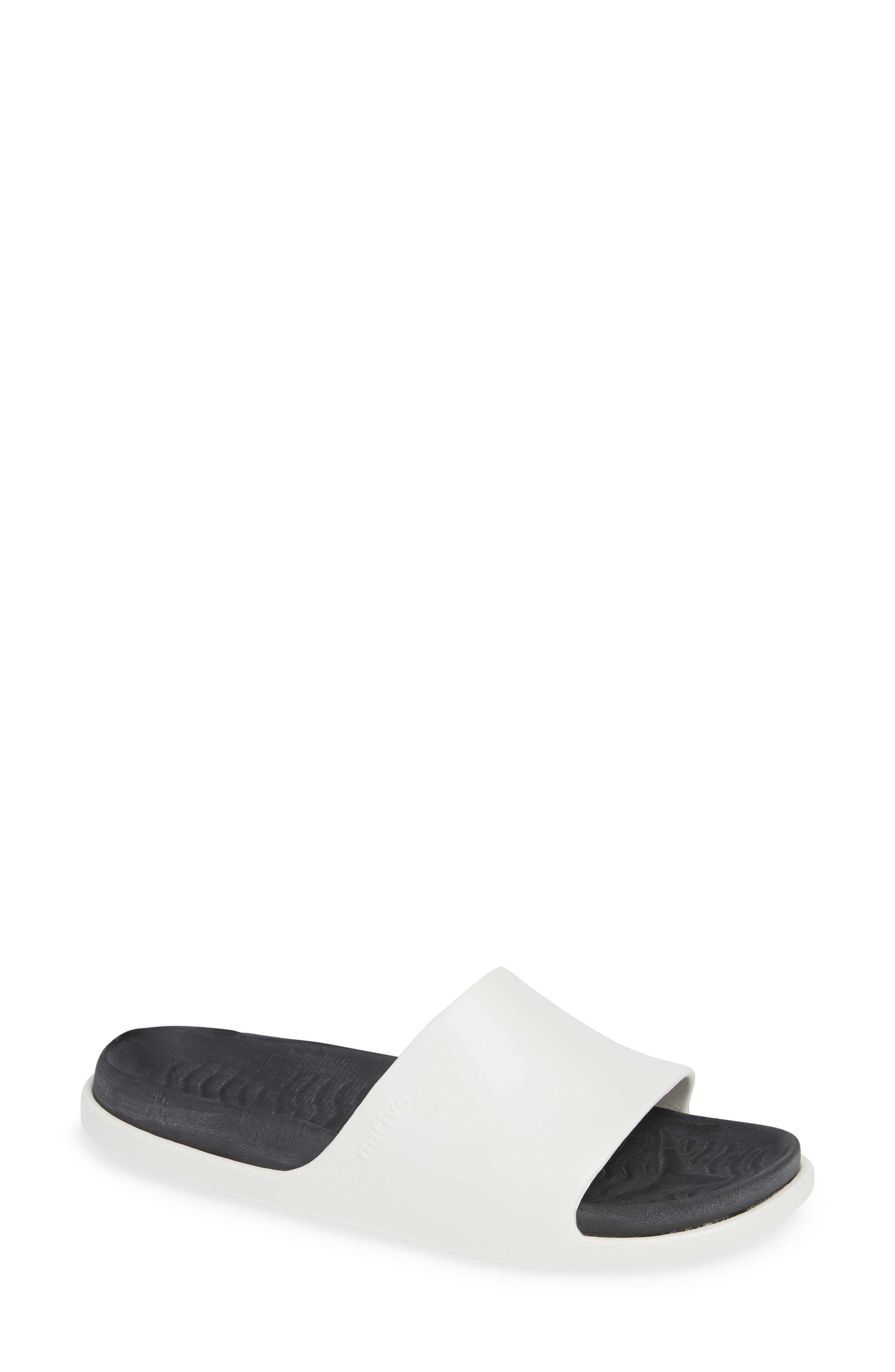 Native Shoes Spencer Lx Vegan Sport Slide Sandal, White