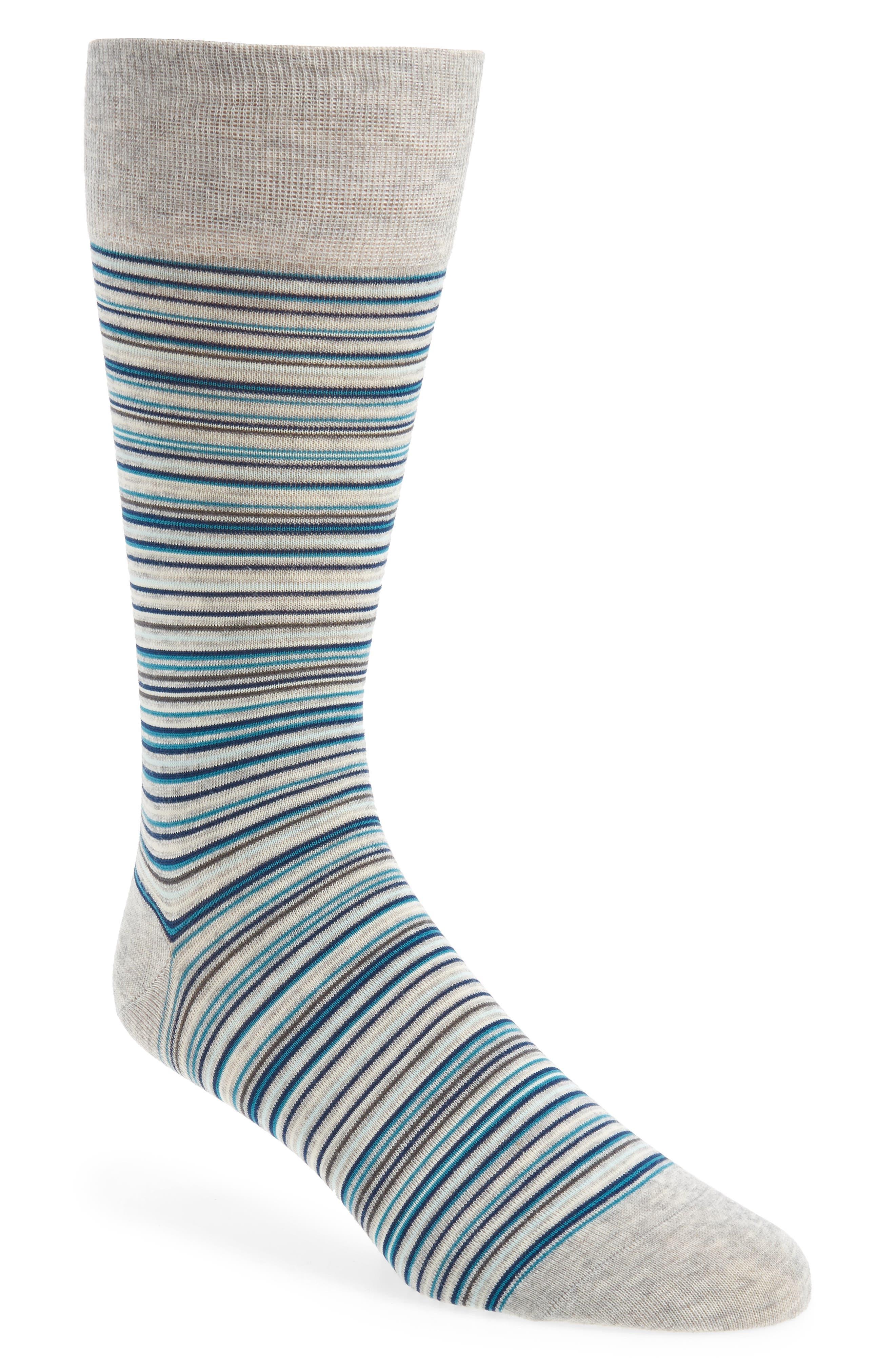 Multistripe Crew Socks,                             Main thumbnail 5, color,