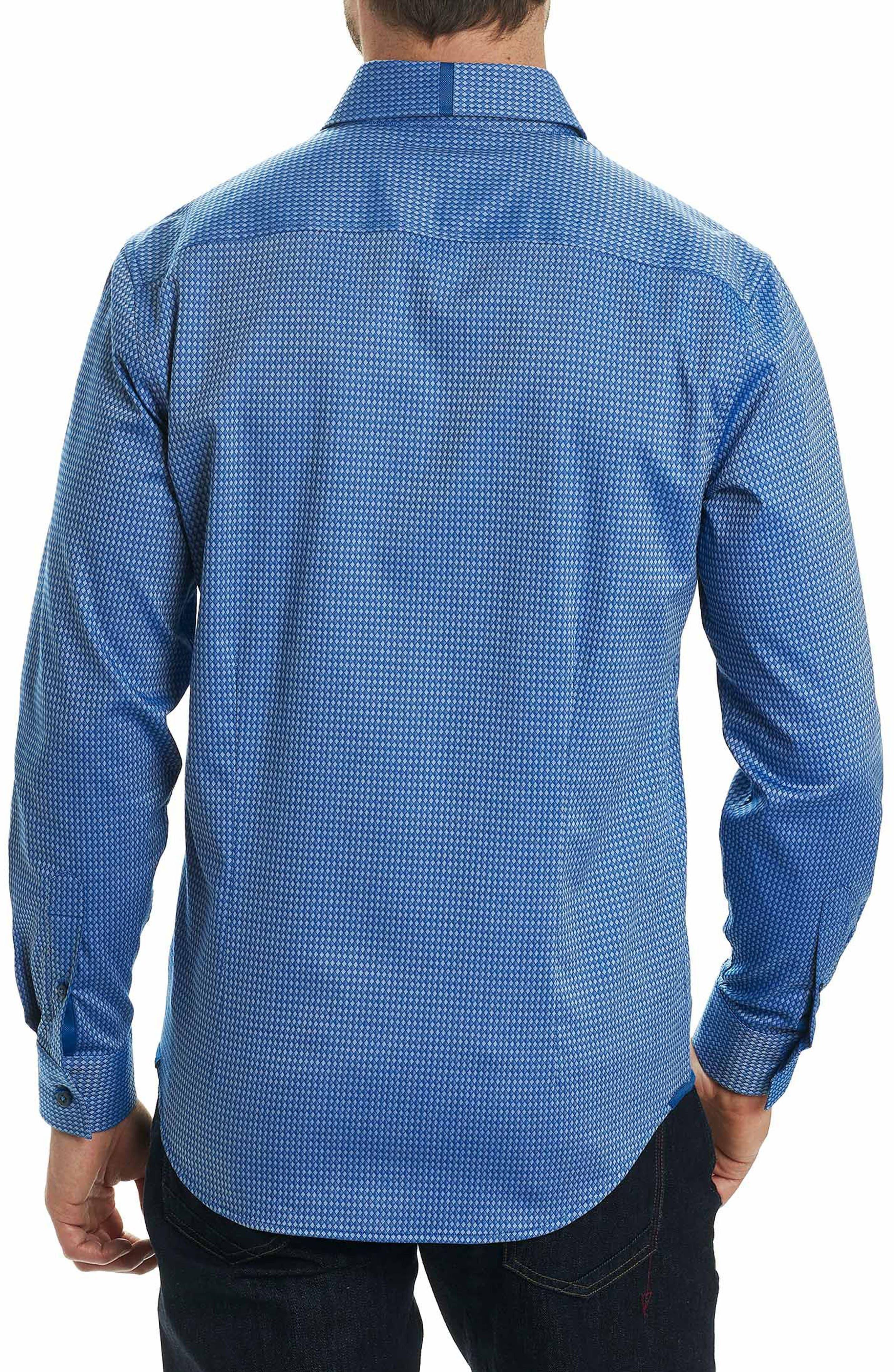Matthew Tailored Fit Print Sport Shirt,                             Alternate thumbnail 2, color,                             410