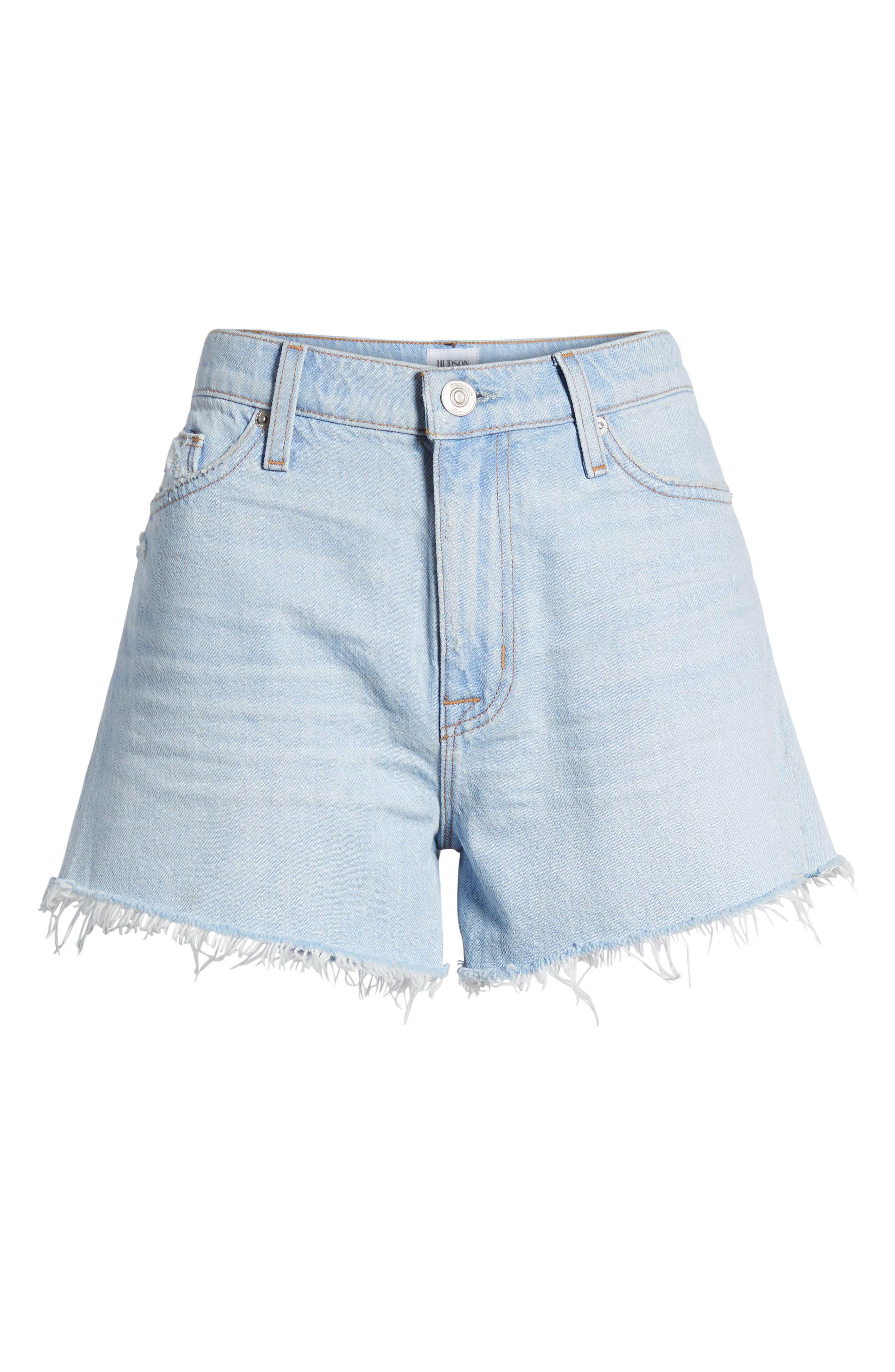 Sade Cutoff Denim Shorts,                             Alternate thumbnail 7, color,                             460