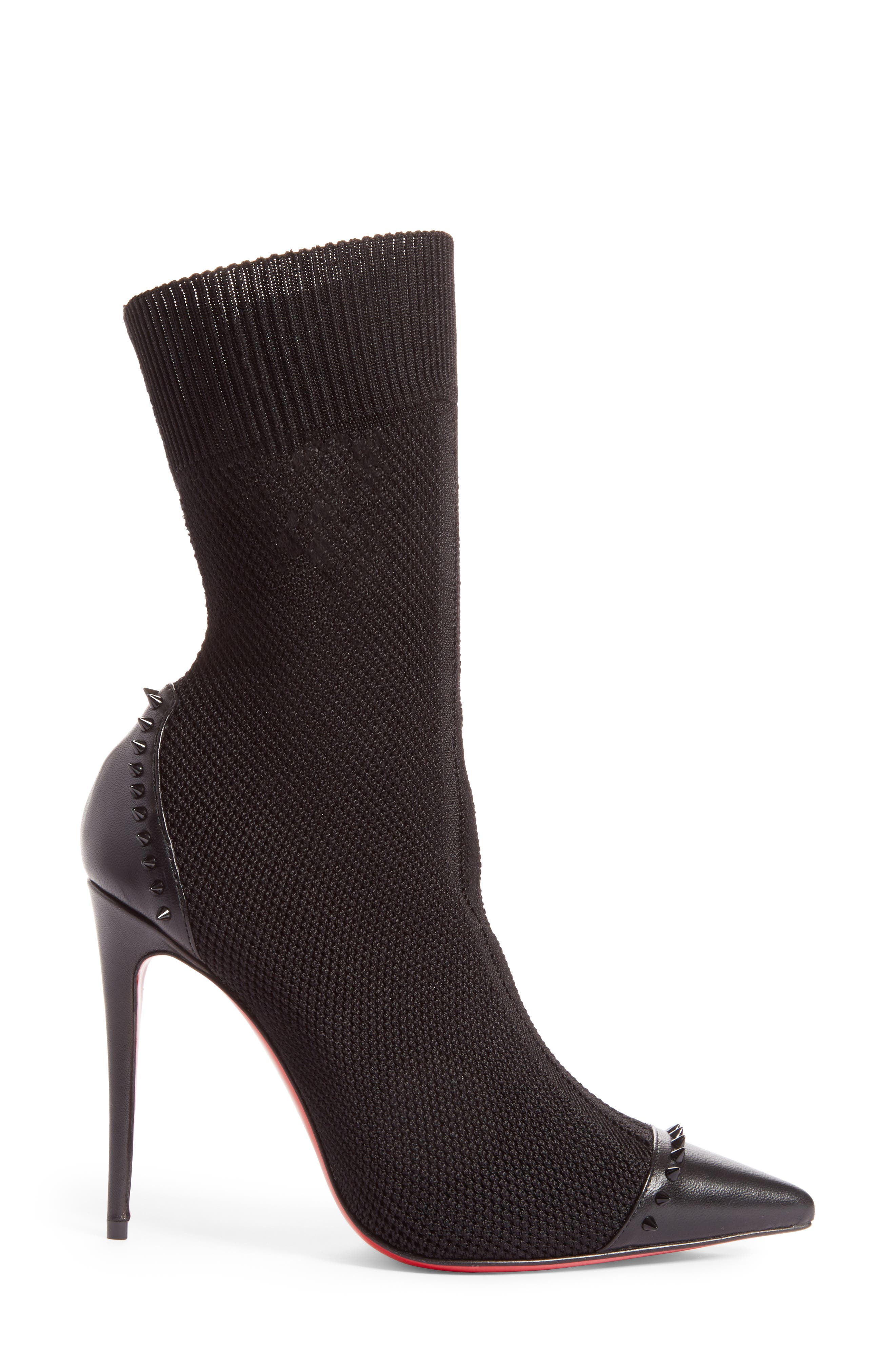 Dovi Dova Spiked Pointy Toe Bootie,                             Alternate thumbnail 3, color,                             001