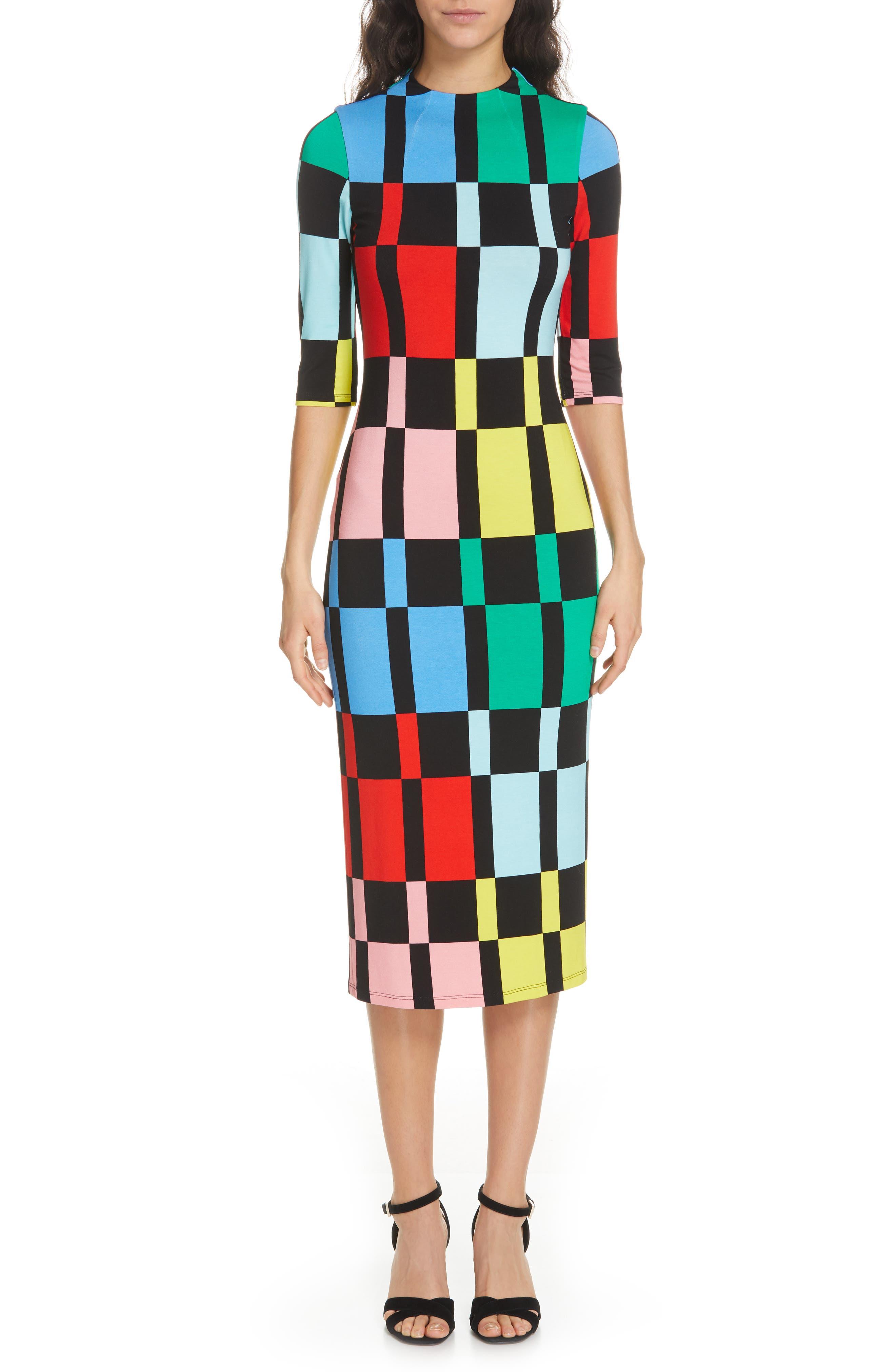 Alice + Olivia Delora Fitted Dress, Black