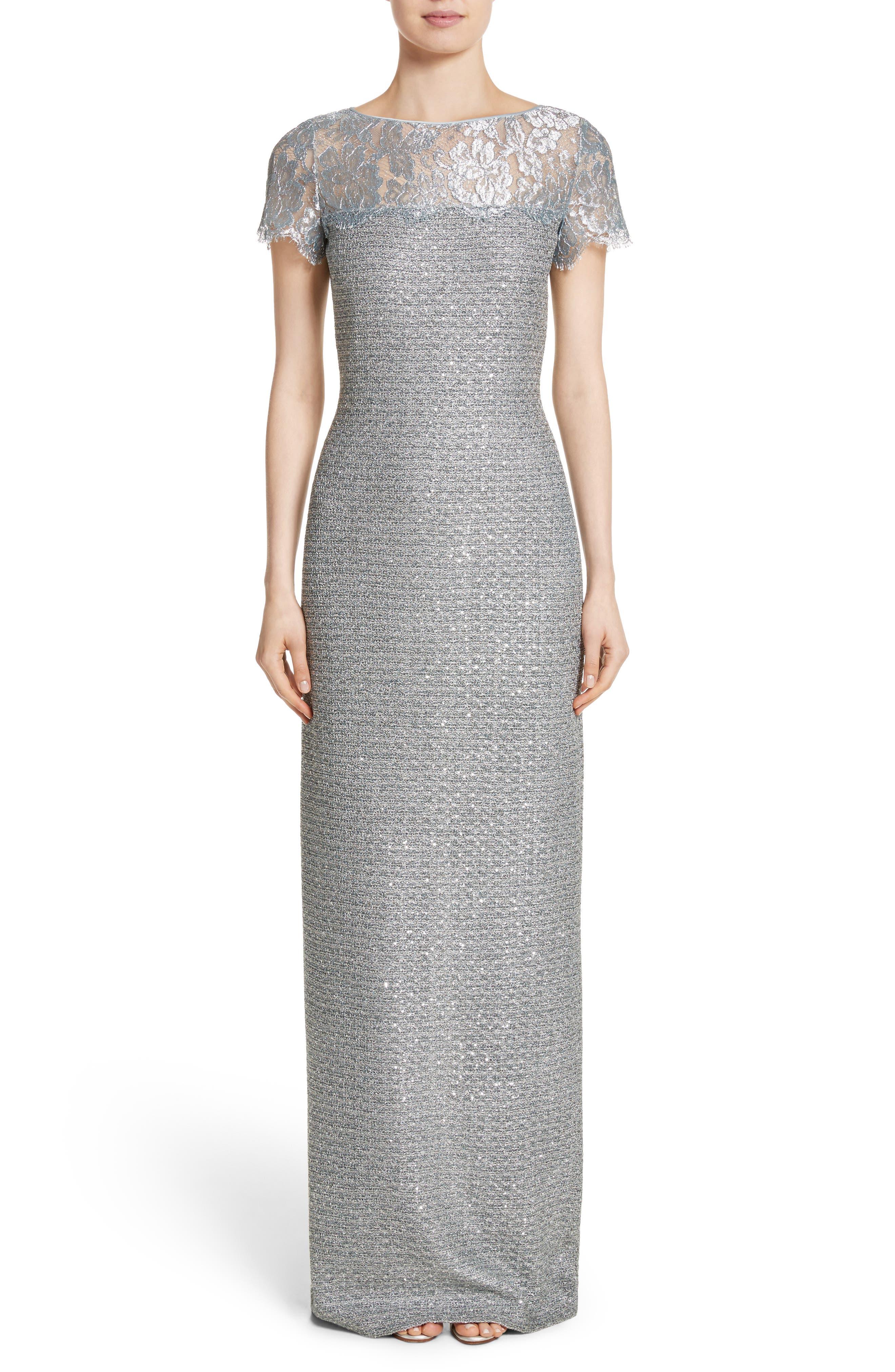 Metallic Knit Gown,                             Main thumbnail 1, color,                             020