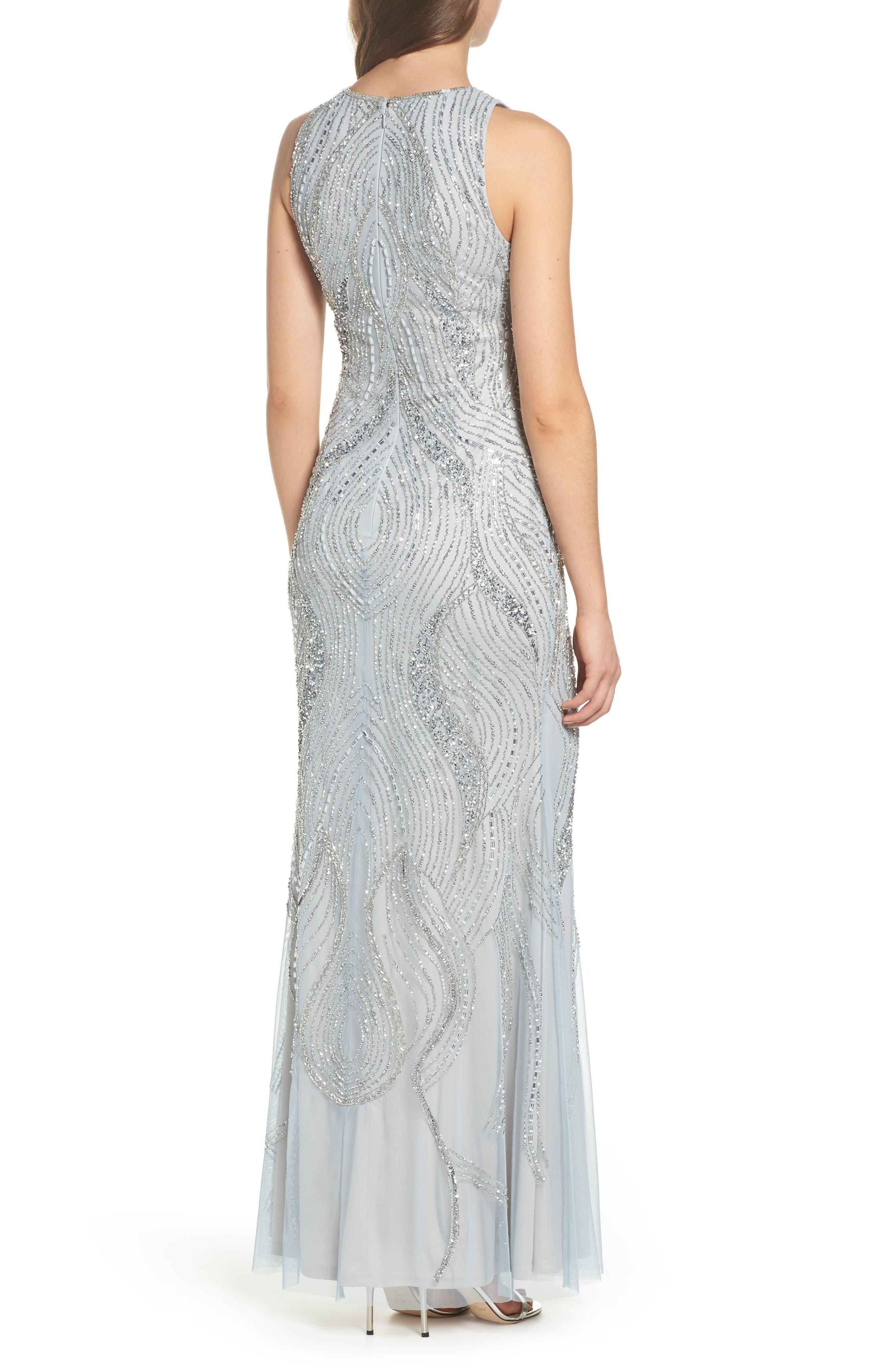 Swirl Beaded Long Dress,                             Alternate thumbnail 2, color,                             040