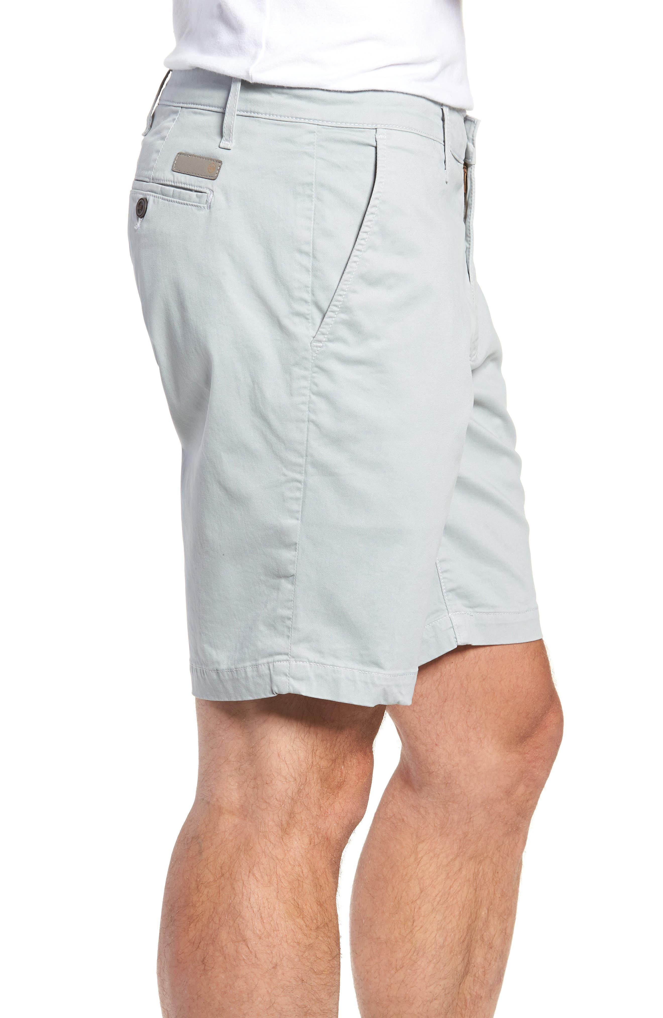 Wanderer Modern Slim Fit Shorts,                             Alternate thumbnail 3, color,                             MORNING MIST