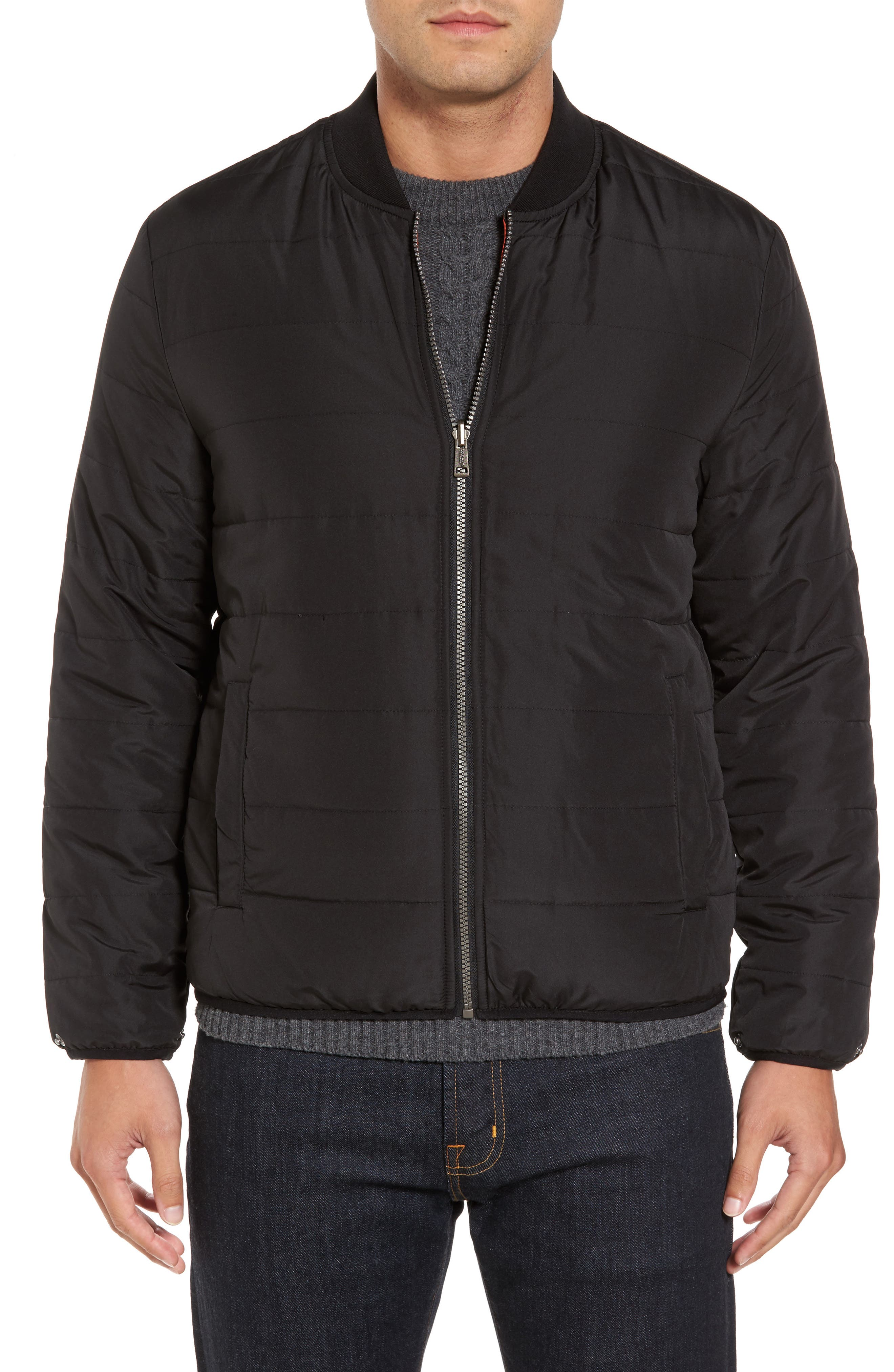 Coat with Removable Bomber Jacket,                             Alternate thumbnail 4, color,                             001
