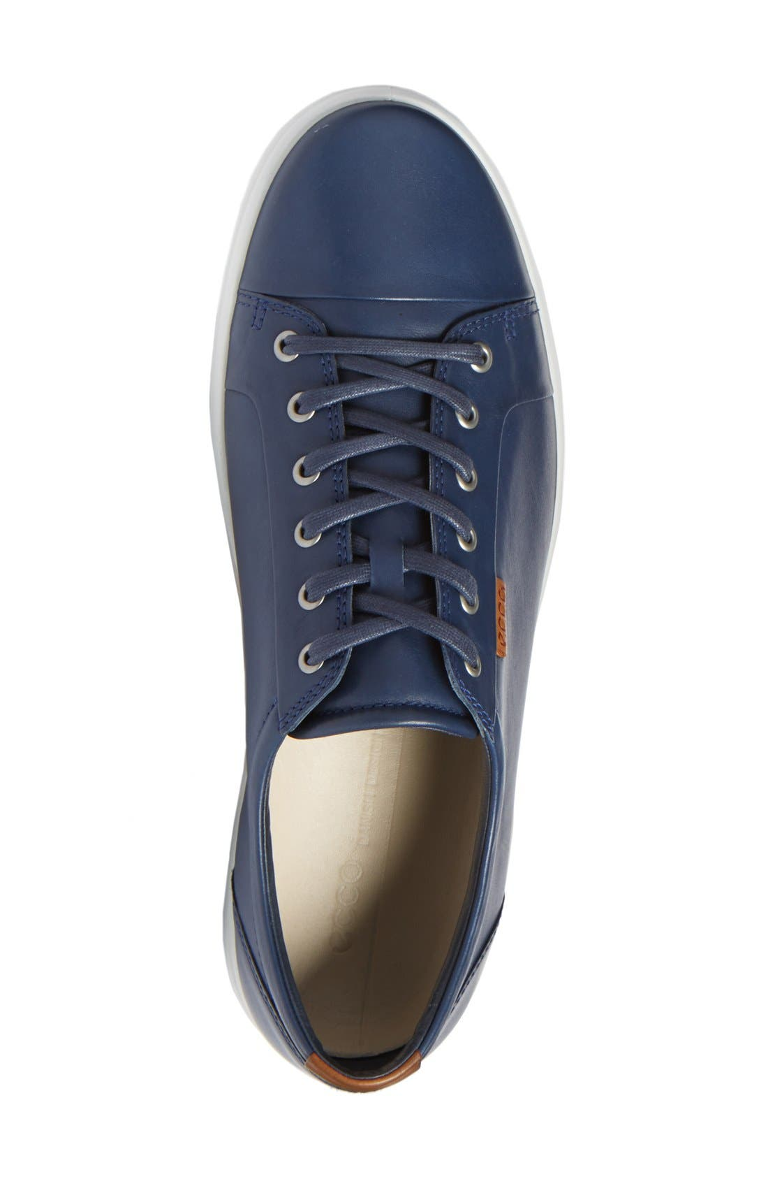 Soft VII Lace-Up Sneaker,                             Alternate thumbnail 2, color,                             NAVY LEATHER