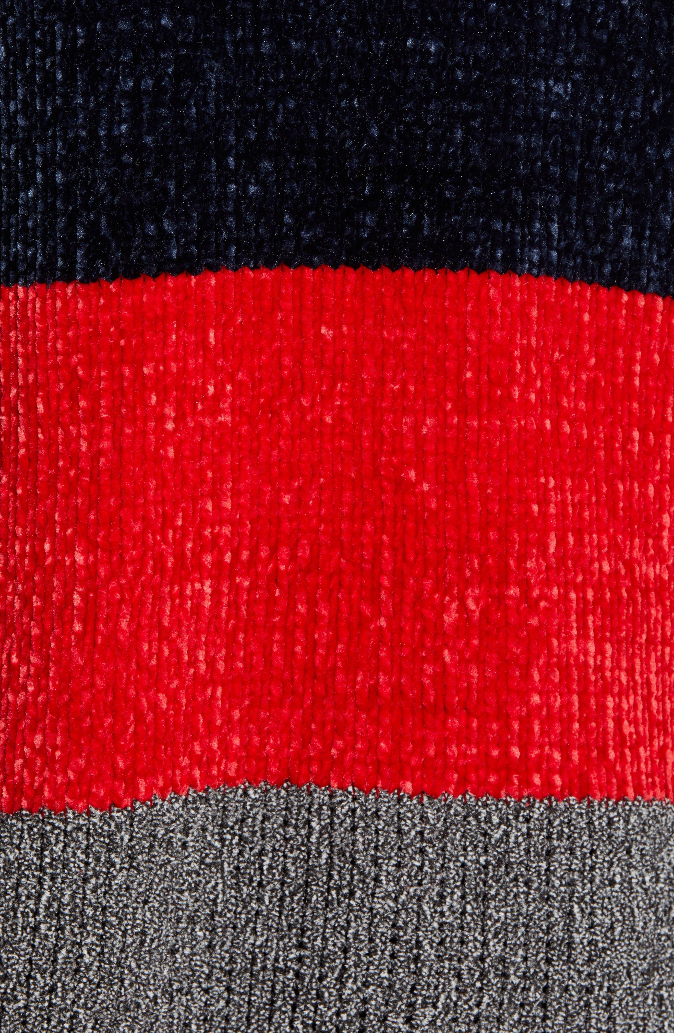 COTTON EMPORIUM,                             Stripe Chenille Sweater,                             Alternate thumbnail 5, color,                             710