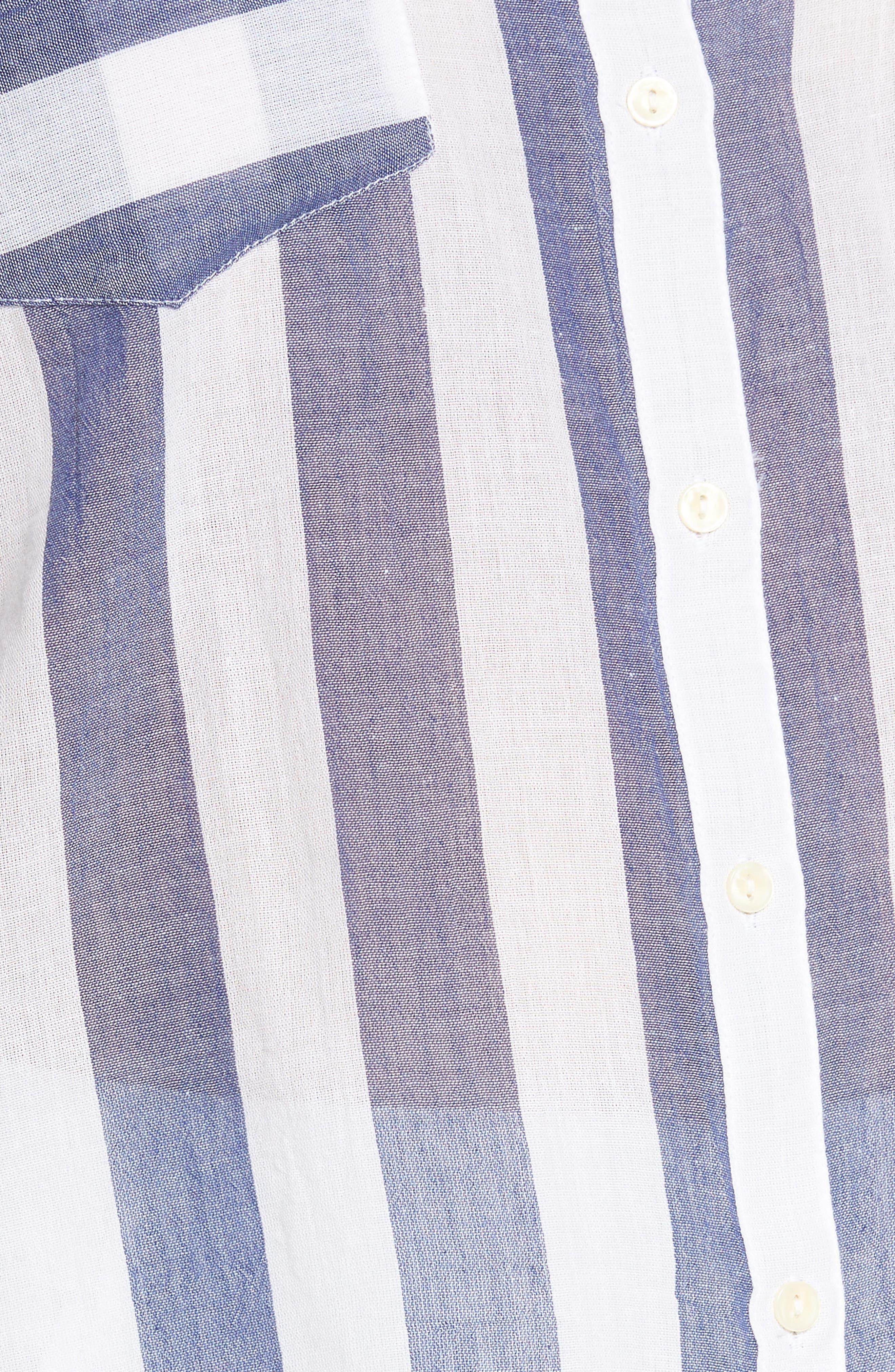 Stripe Back Tie Shirt,                             Alternate thumbnail 6, color,