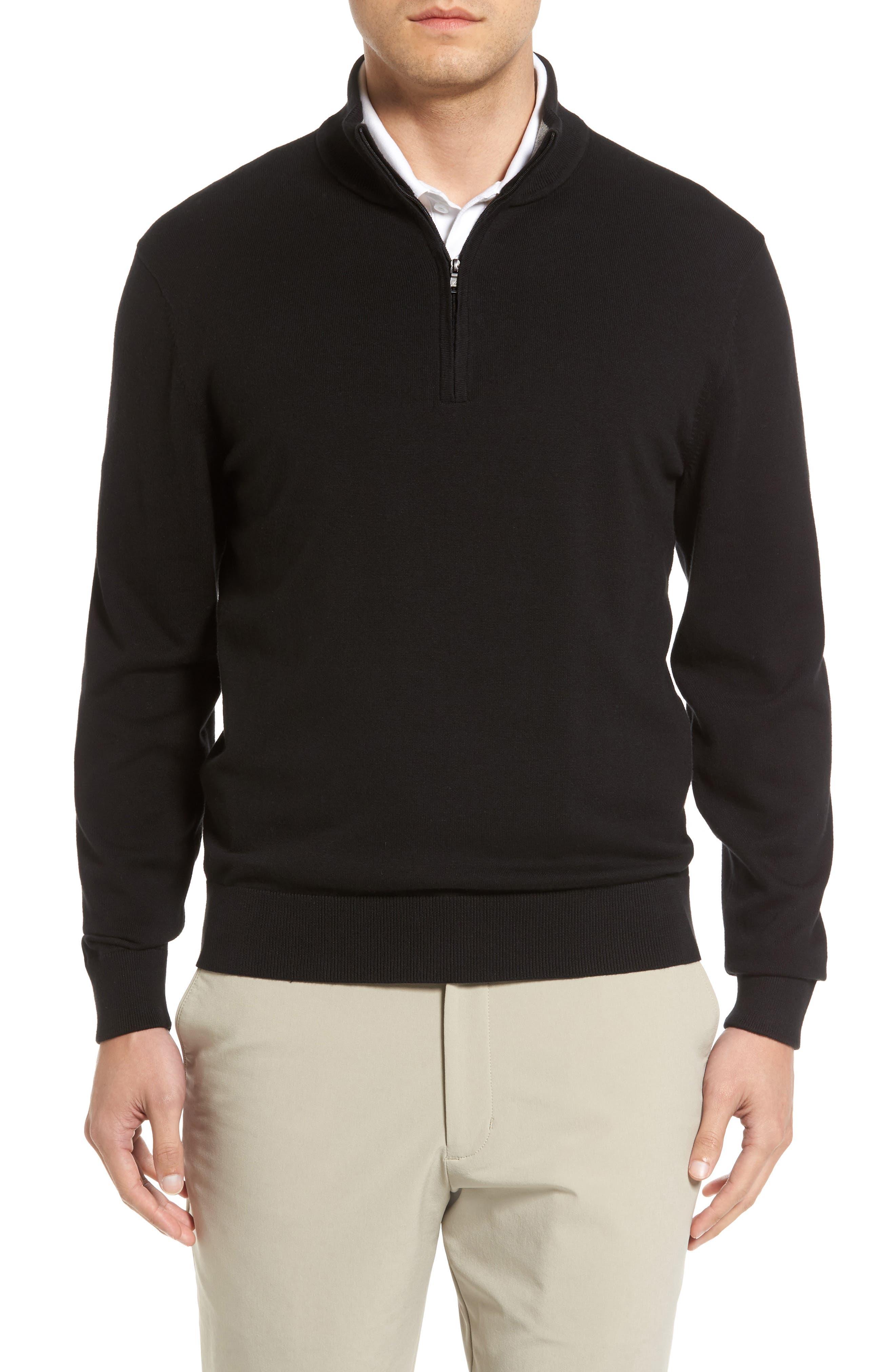 Lakemont Half Zip Sweater,                         Main,                         color, BLACK