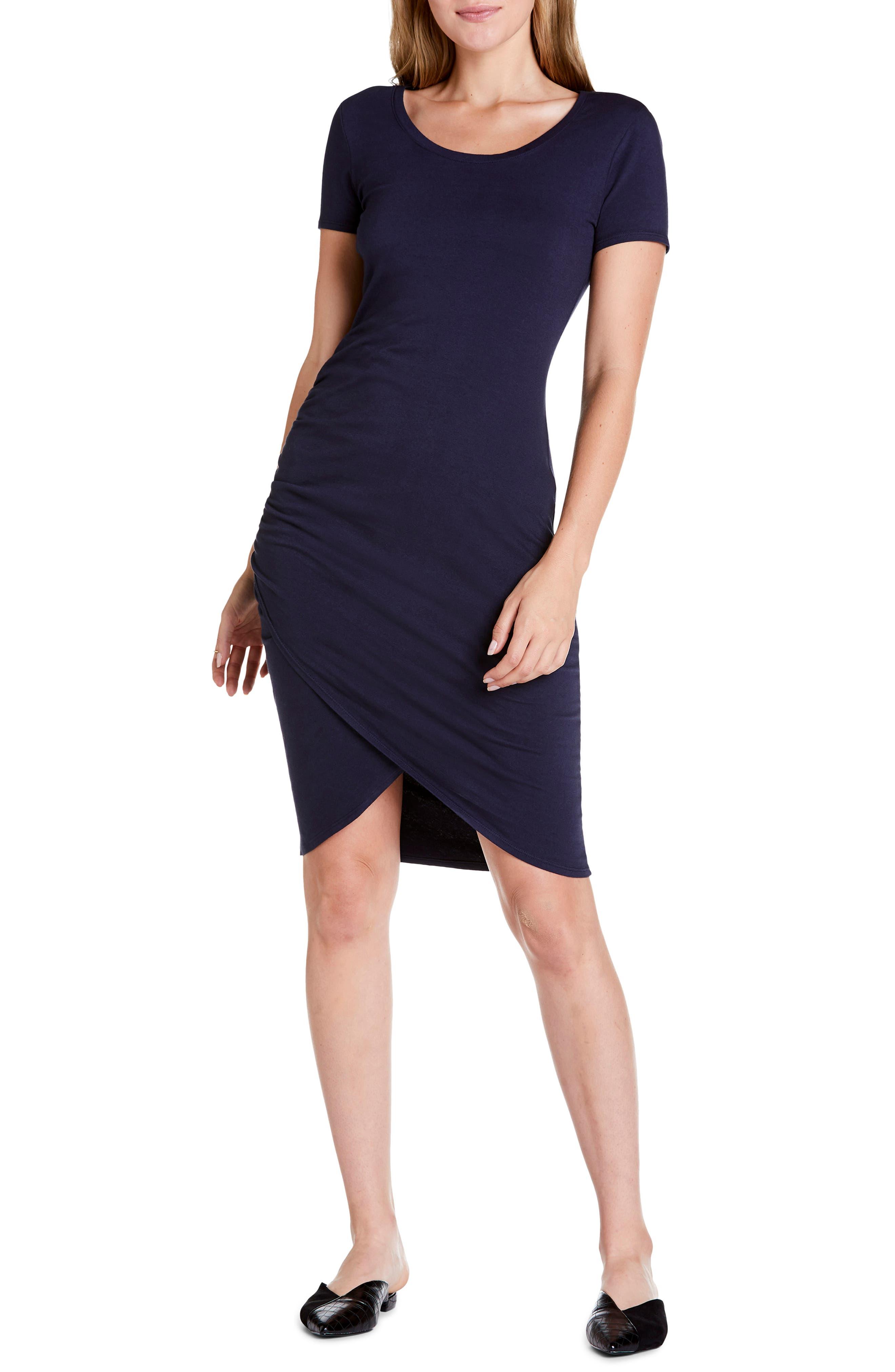 Michael Stars Kimber Tulip Skirt Knit Dress, Blue/green