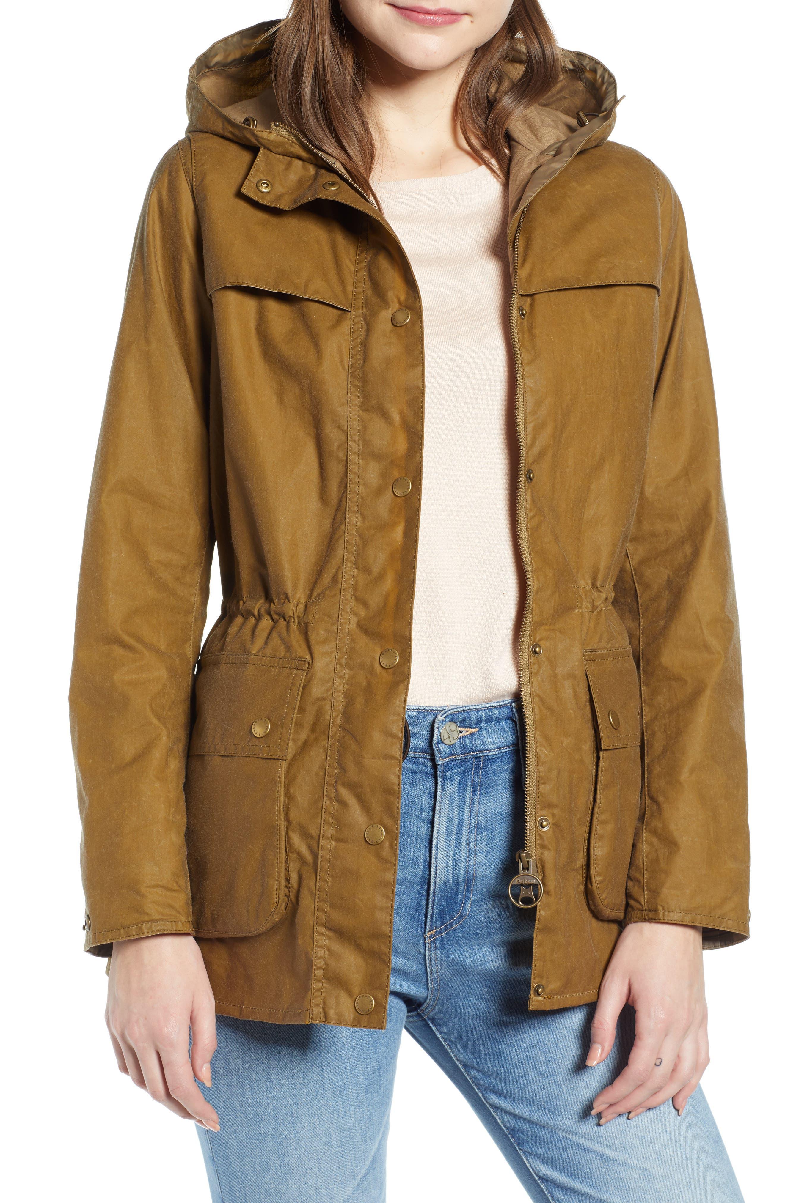 Barbour Durham Lightweight Wax Cotton Jacket, US / 16 UK - Green