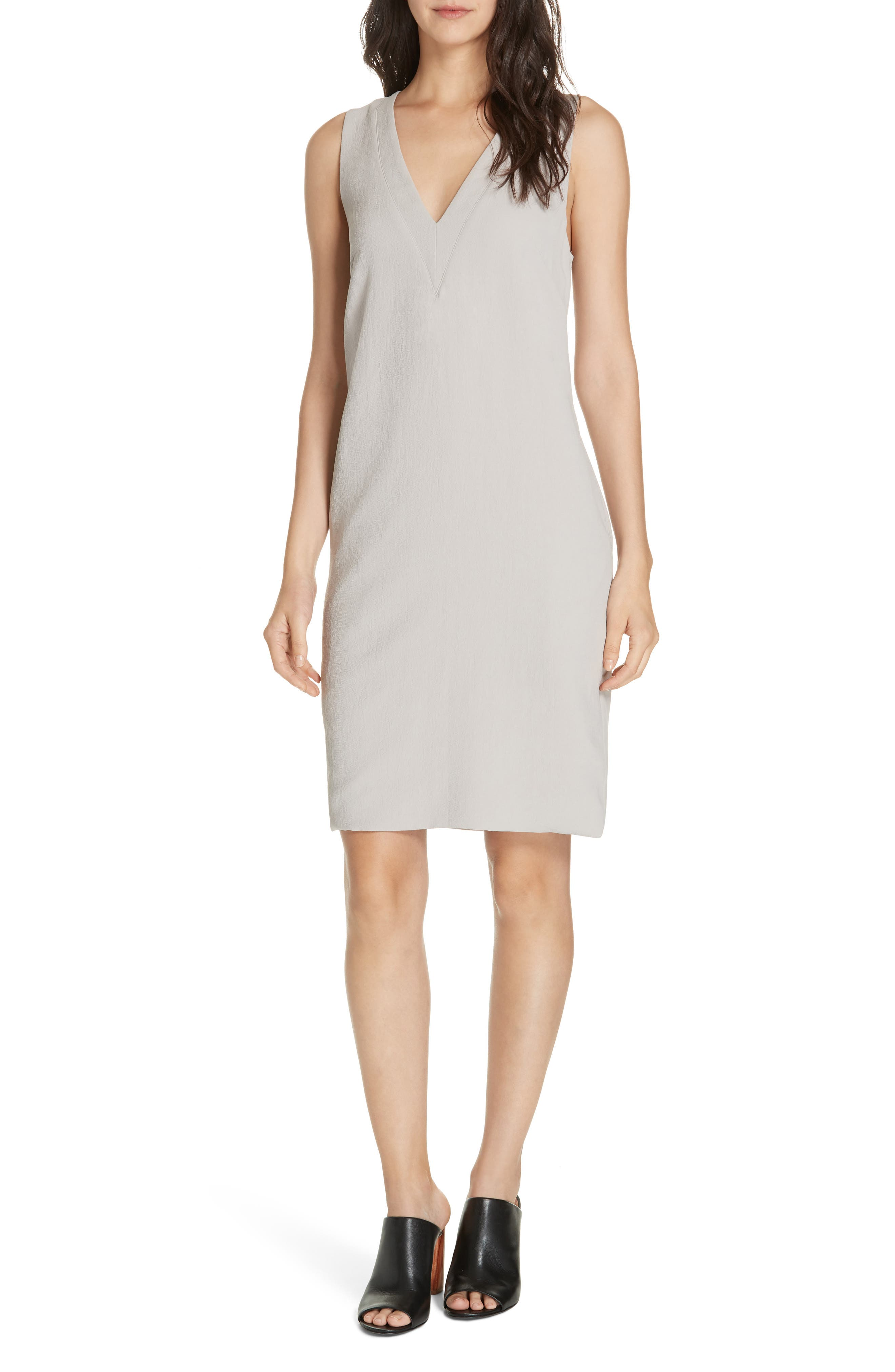Brochu Walker Luy Sleeveless V-Neck Shift Dress, Beige