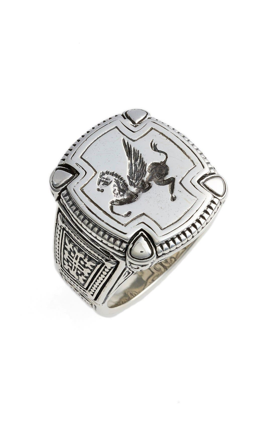 Silver Classics Pegasus Ring,                             Main thumbnail 1, color,                             SILVER