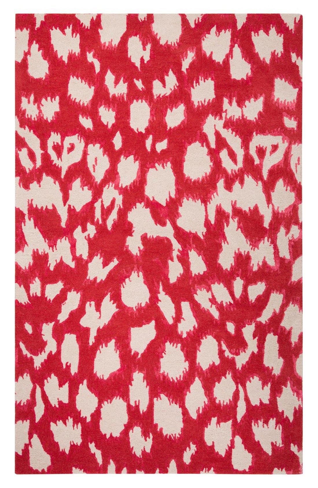 'gramercy - animal print' wool & silk rug,                             Main thumbnail 3, color,