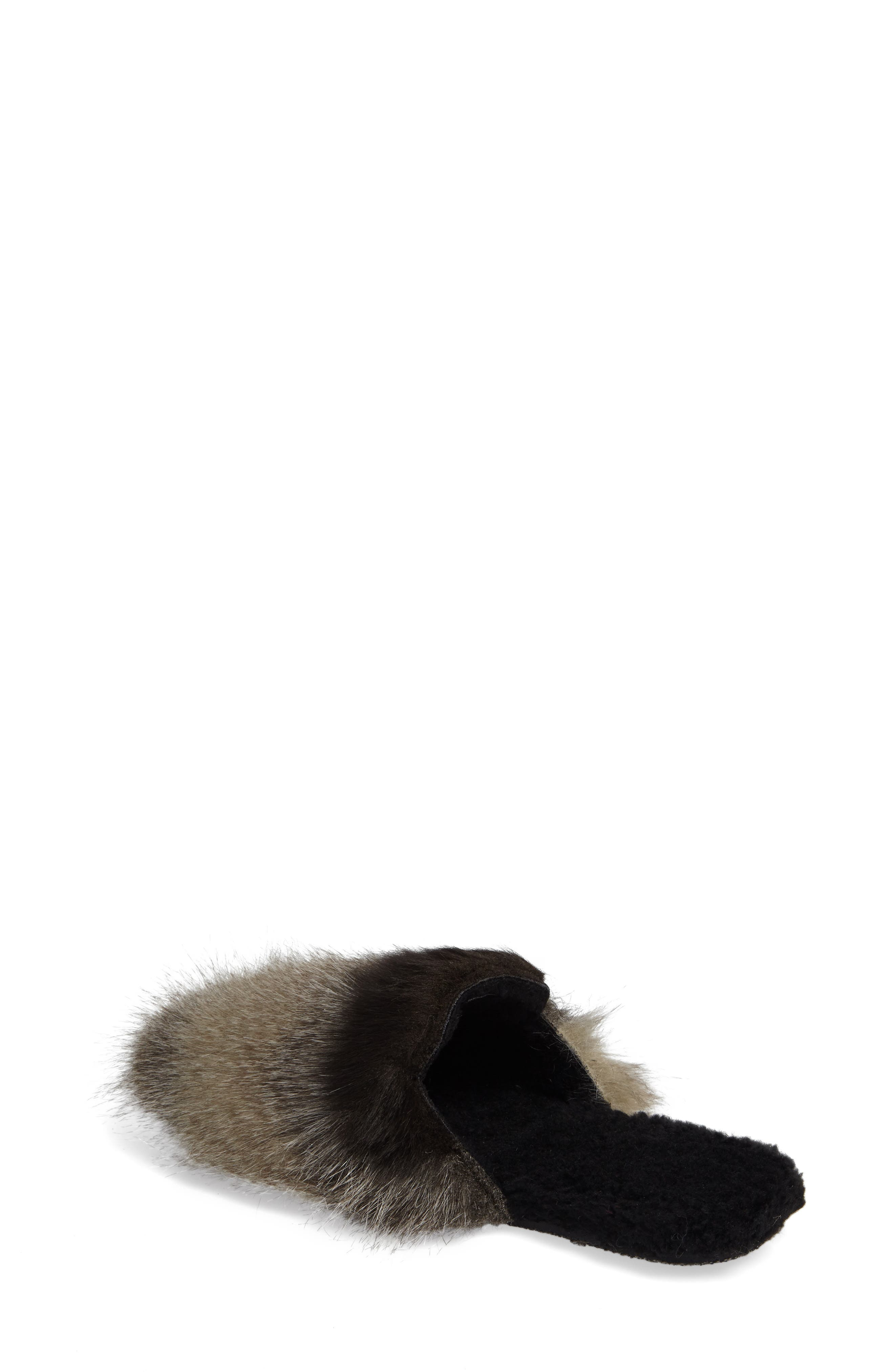Hideaway Faux Fur Mule,                             Alternate thumbnail 2, color,                             030
