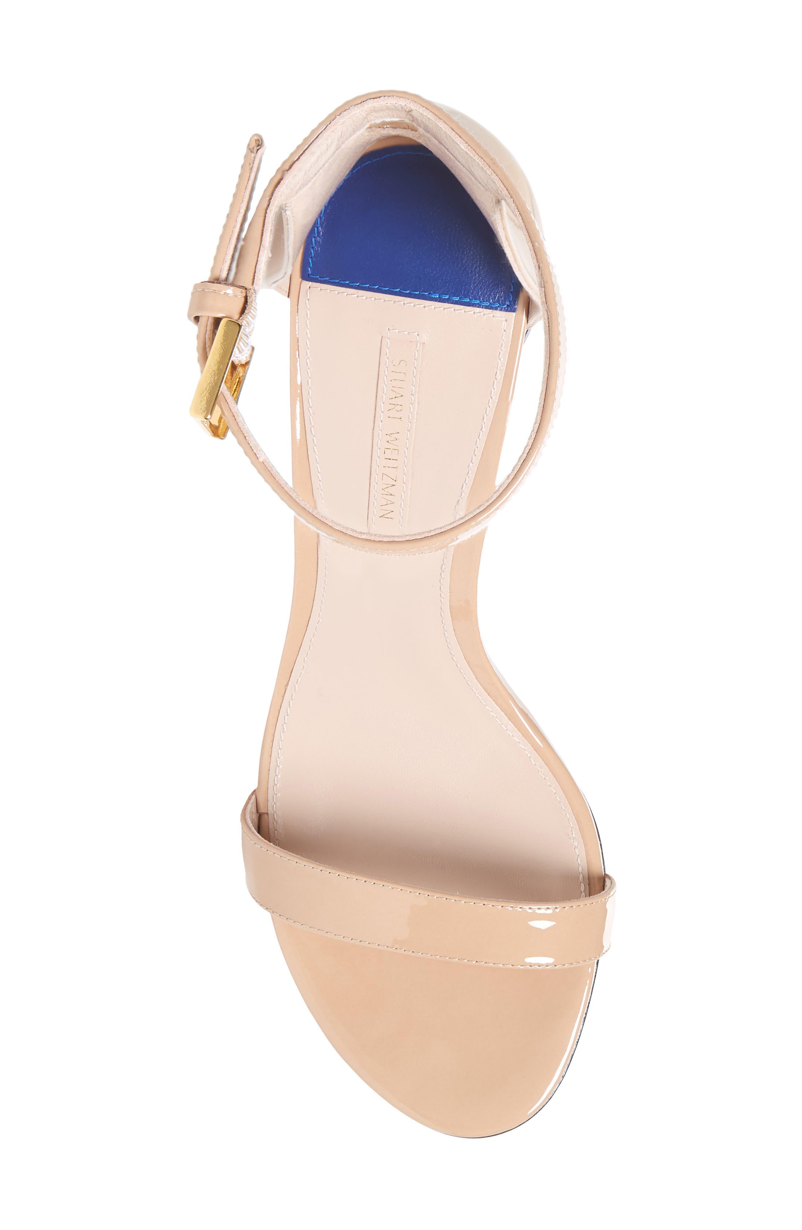 75LESSNUDIST Ankle Strap Sandal,                             Alternate thumbnail 5, color,                             ADOBE CRISTAL