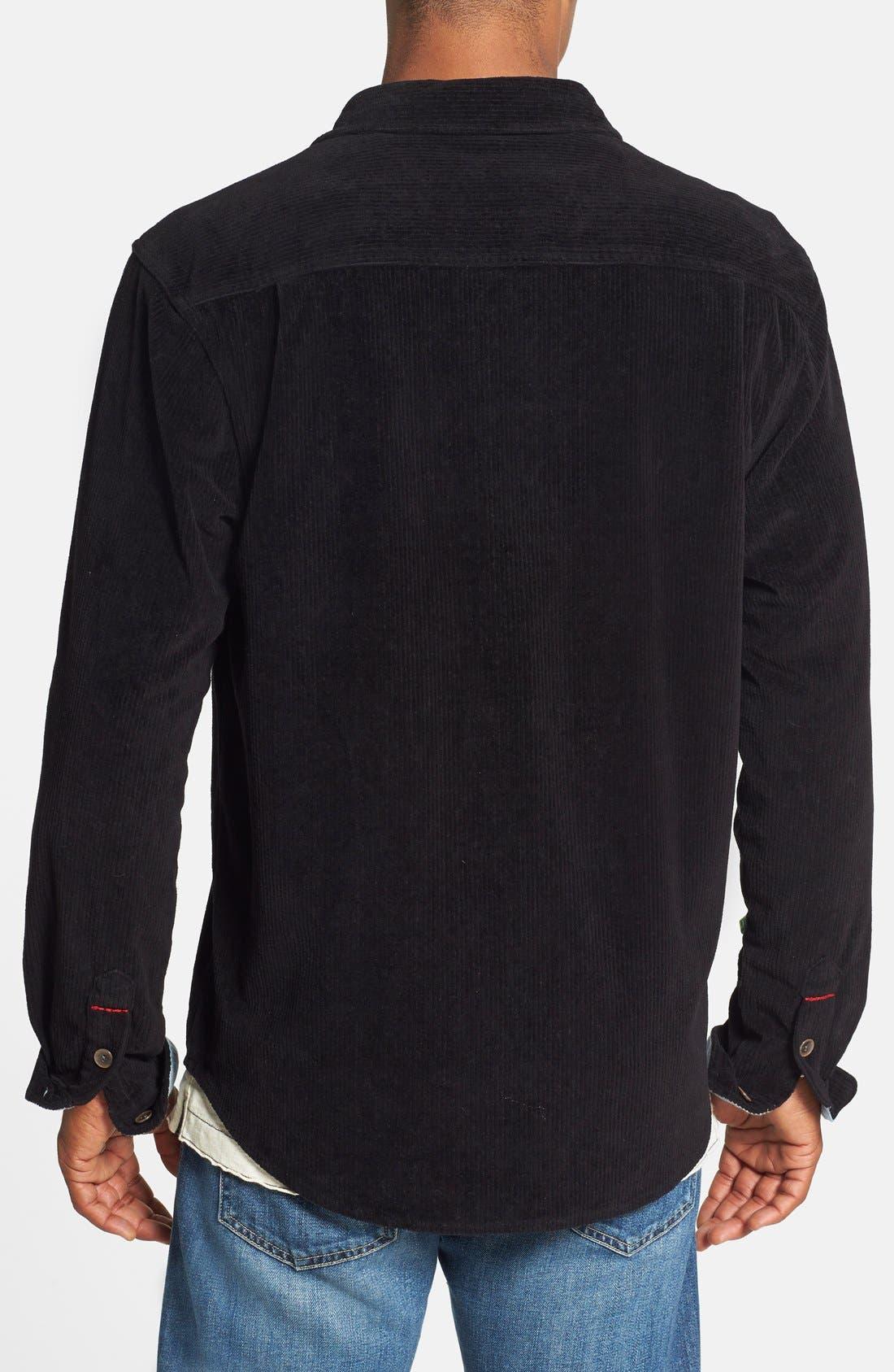 'Best' Stretch Corduroy Shirt Jacket,                             Alternate thumbnail 3, color,                             001