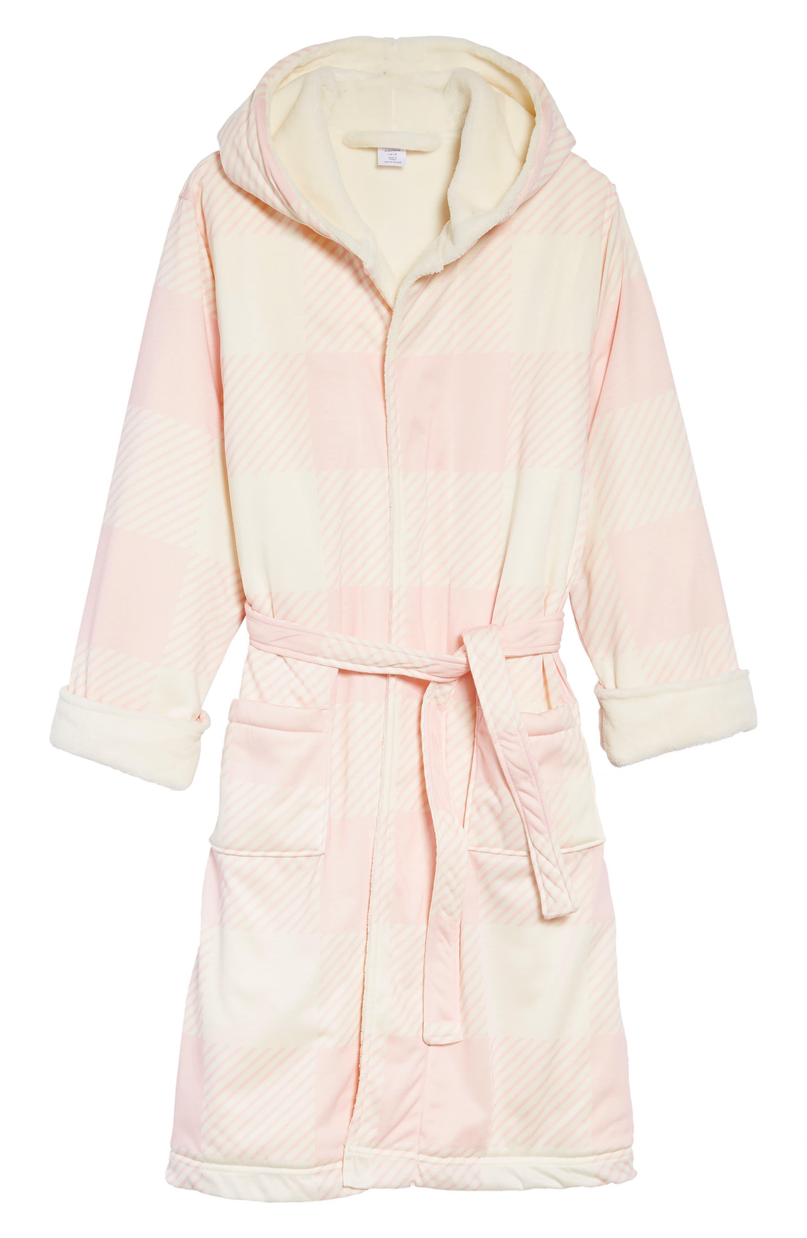Girls Tucker  Tate Plush Lined Robe Size 1012  Pink