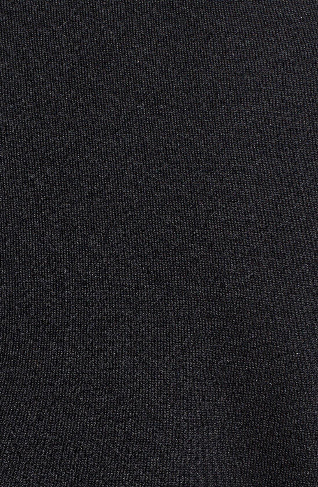 'Alexa' Stretch Milano Knit Ankle Pants,                             Alternate thumbnail 7, color,                             CAVIAR