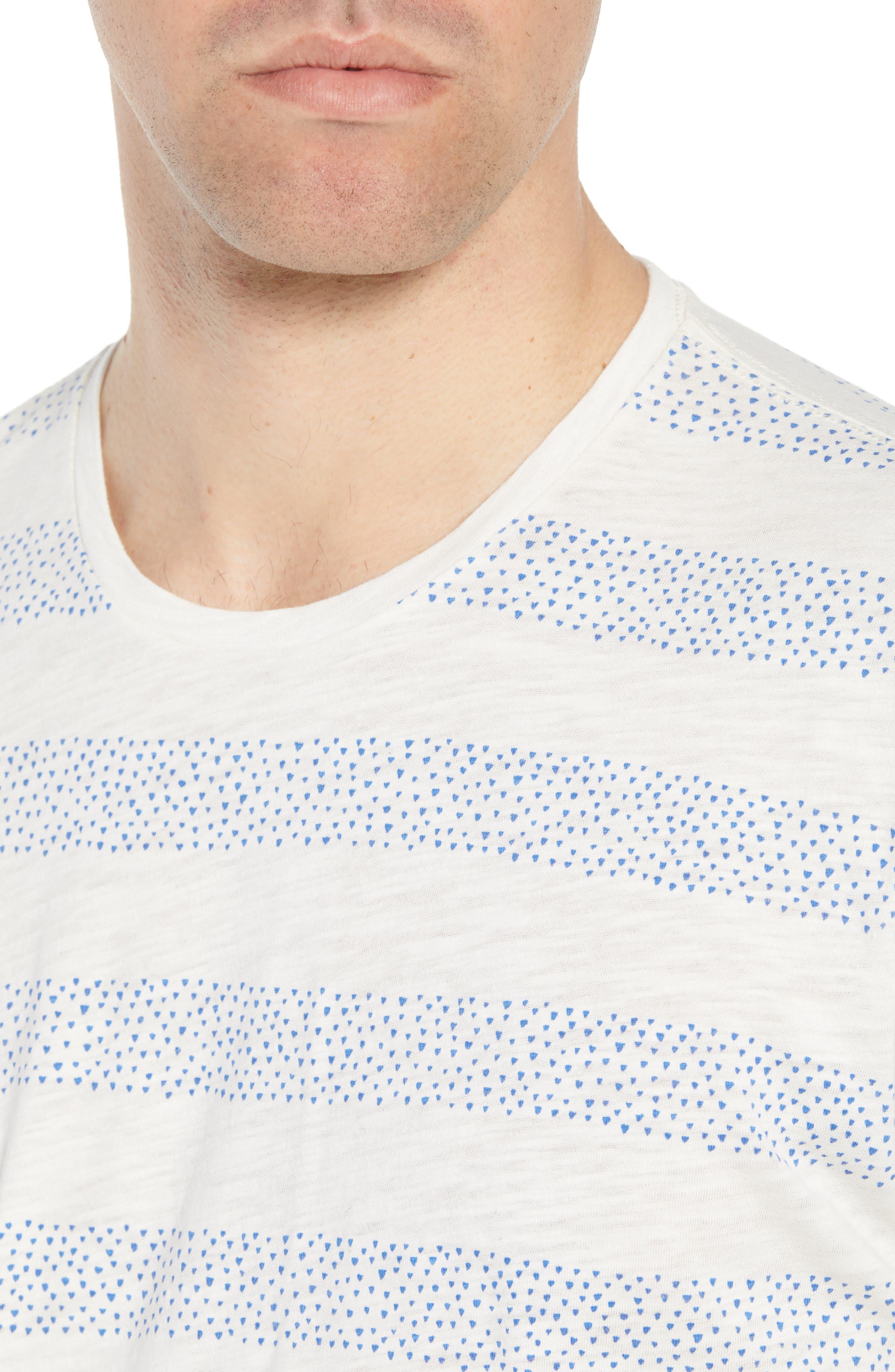 Stripe Slub T-Shirt,                             Alternate thumbnail 4, color,