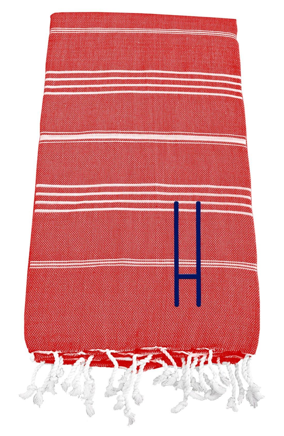 Monogram Turkish Cotton Towel,                             Main thumbnail 117, color,