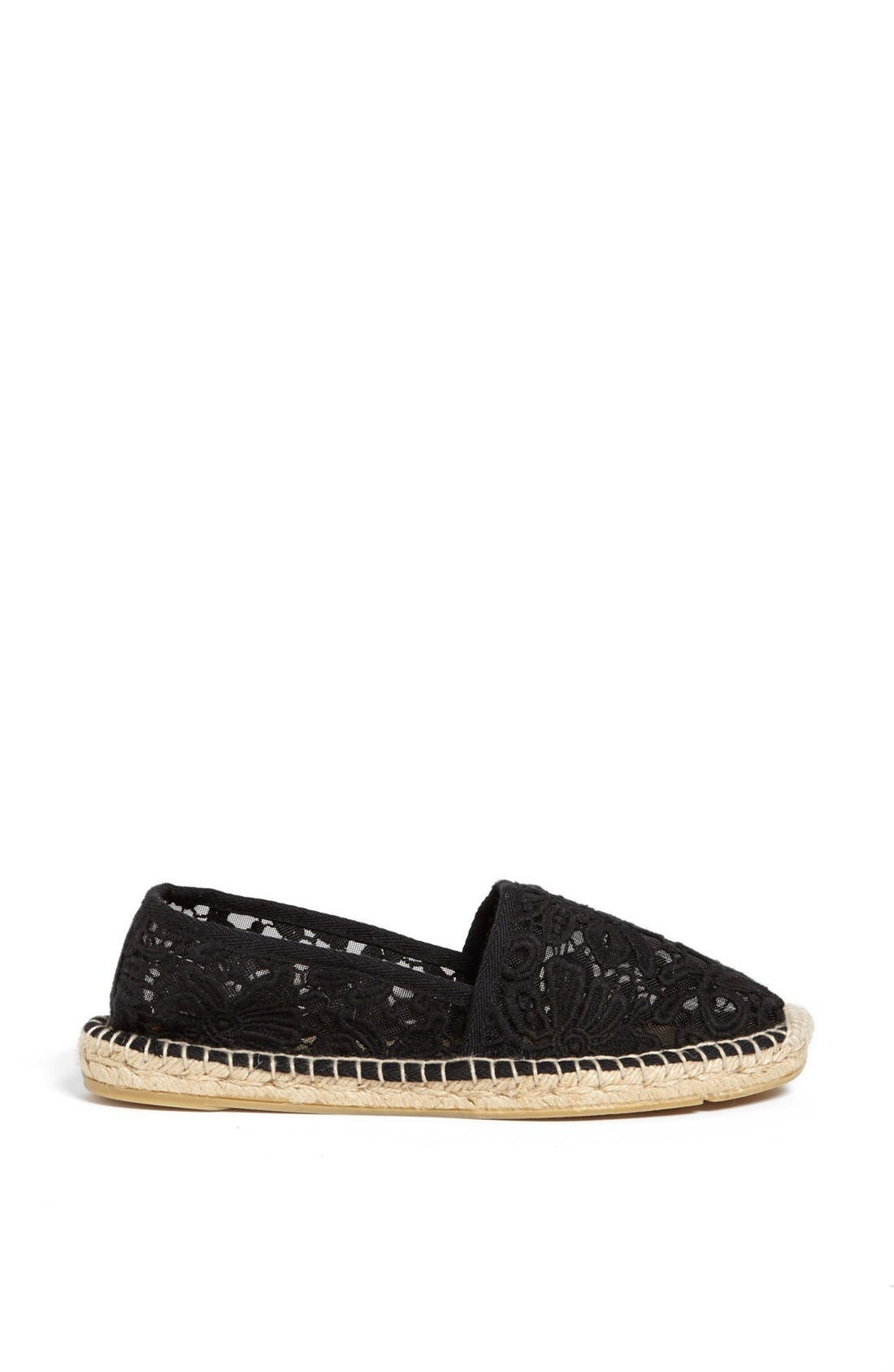 TORY BURCH,                             'Abbe' Espadrille,                             Alternate thumbnail 3, color,                             001