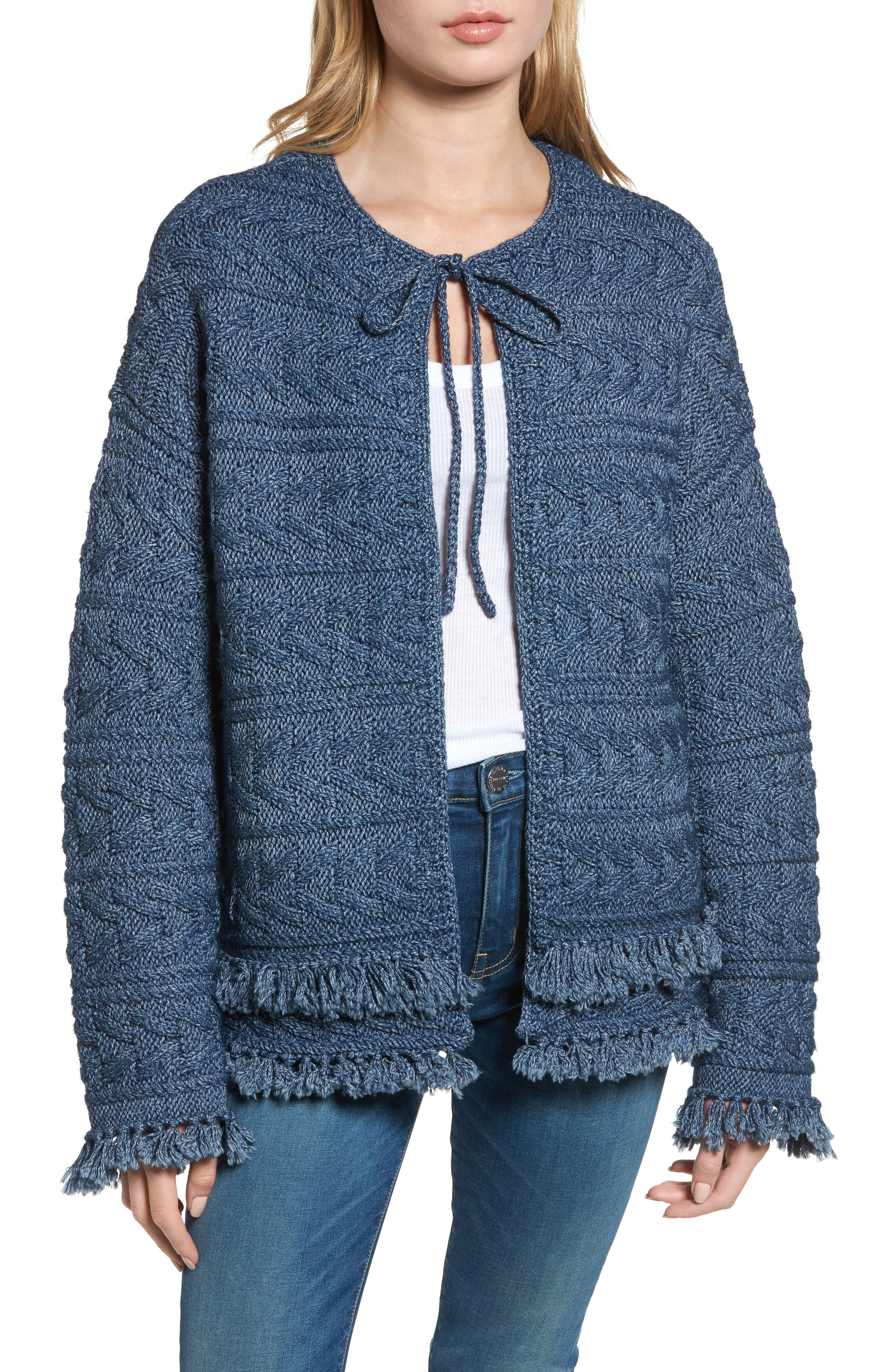 The Cable Fringe Sweater,                             Alternate thumbnail 4, color,                             409