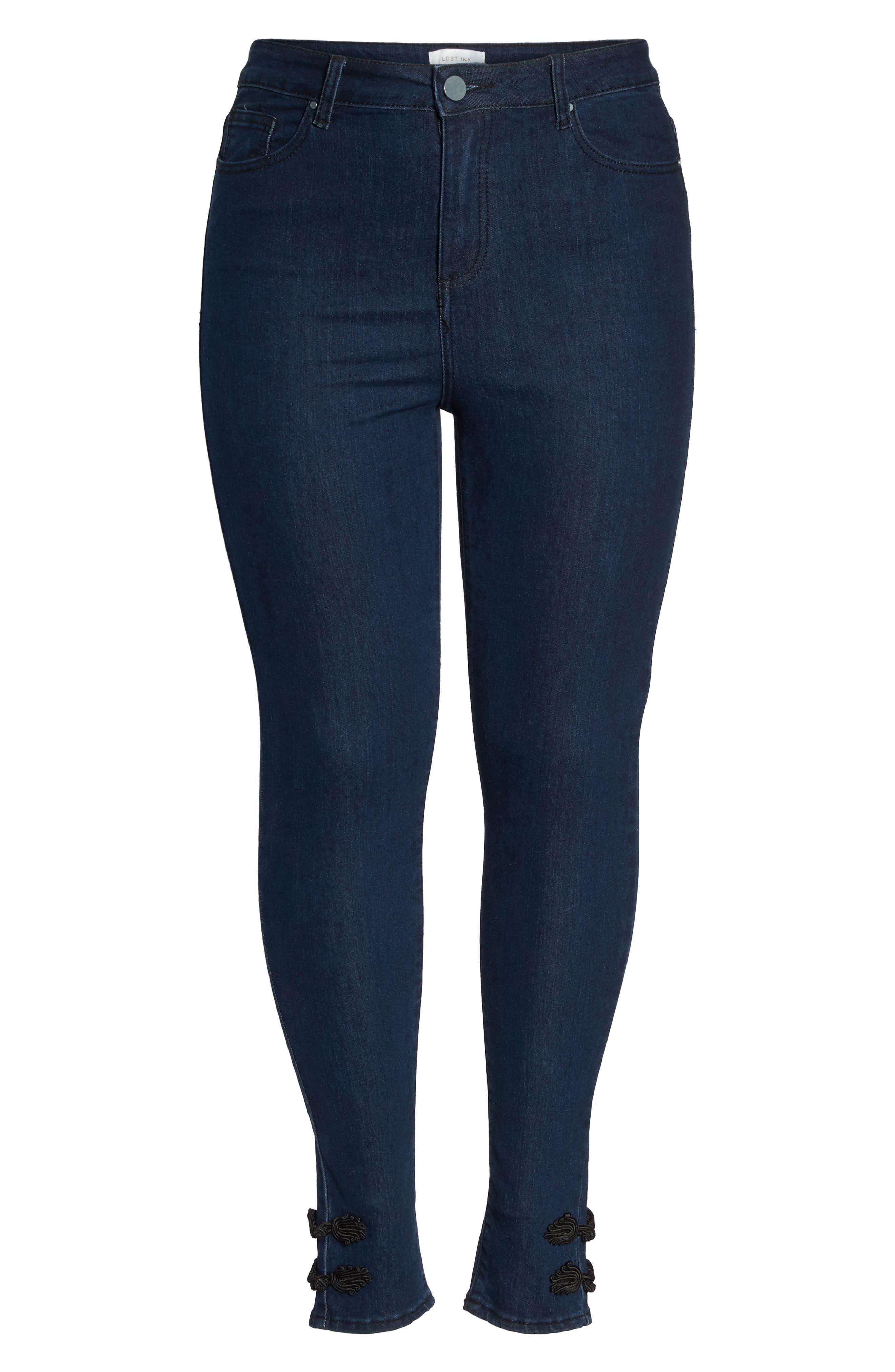 Super High-Waist Skinny Ankle Jeans,                             Alternate thumbnail 6, color,                             401
