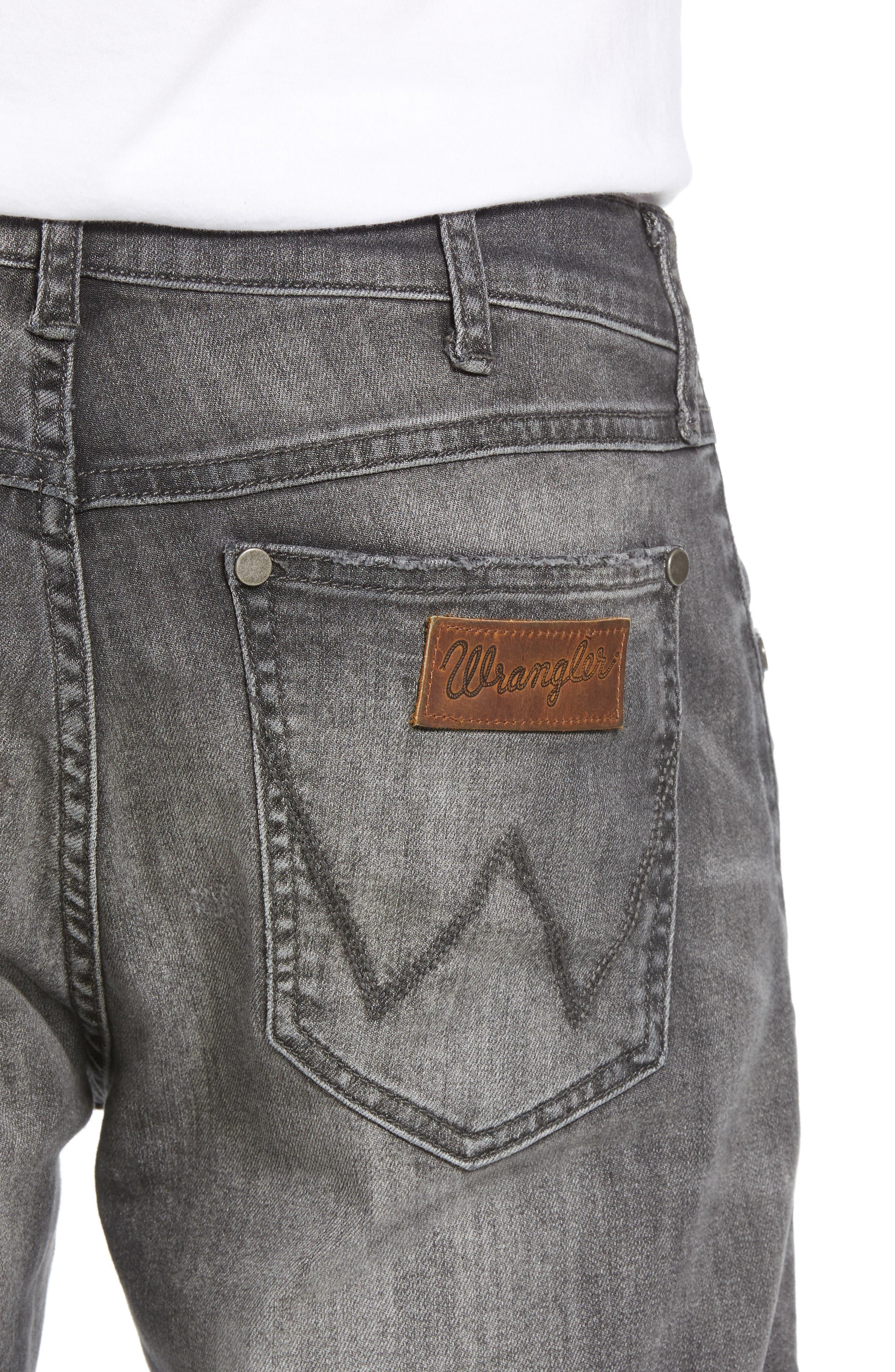 Greensboro Straight Leg Jeans,                             Alternate thumbnail 4, color,                             GREY DESTRUCT