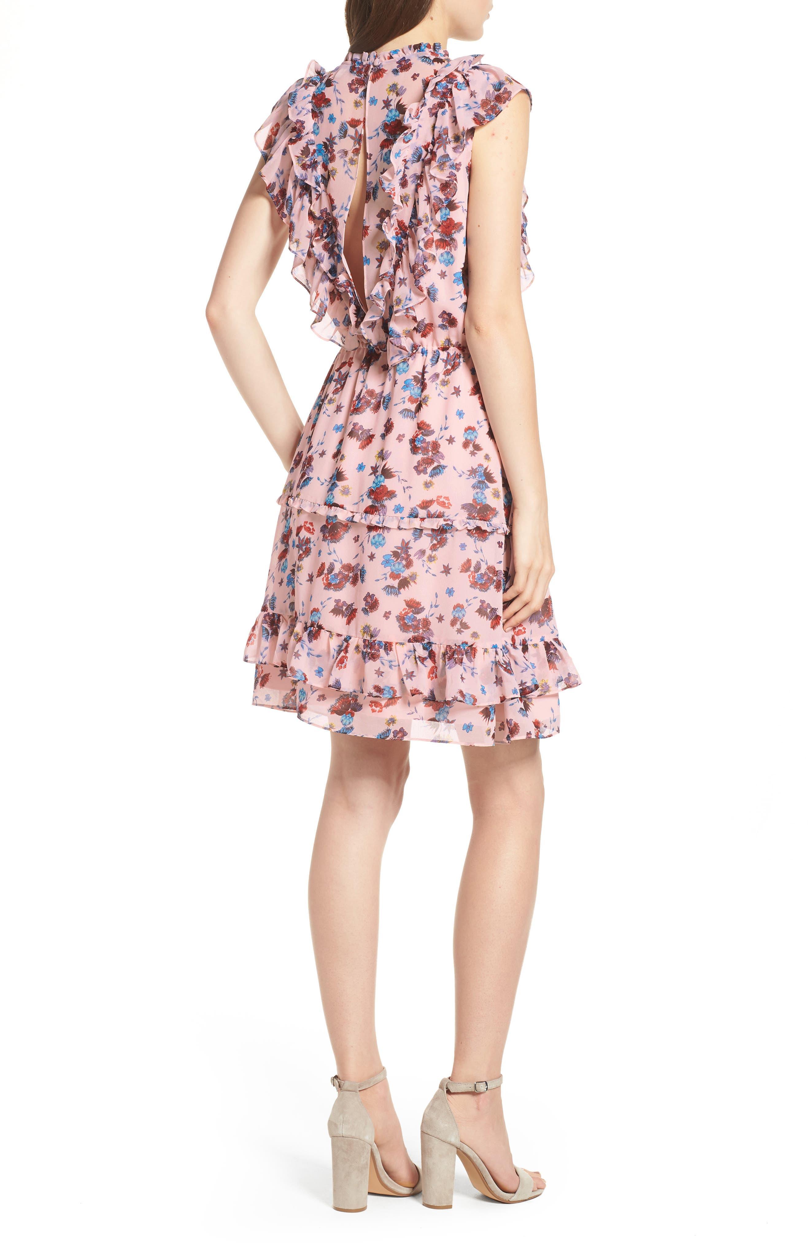 Kika Dress,                             Alternate thumbnail 2, color,                             PINK MULTI