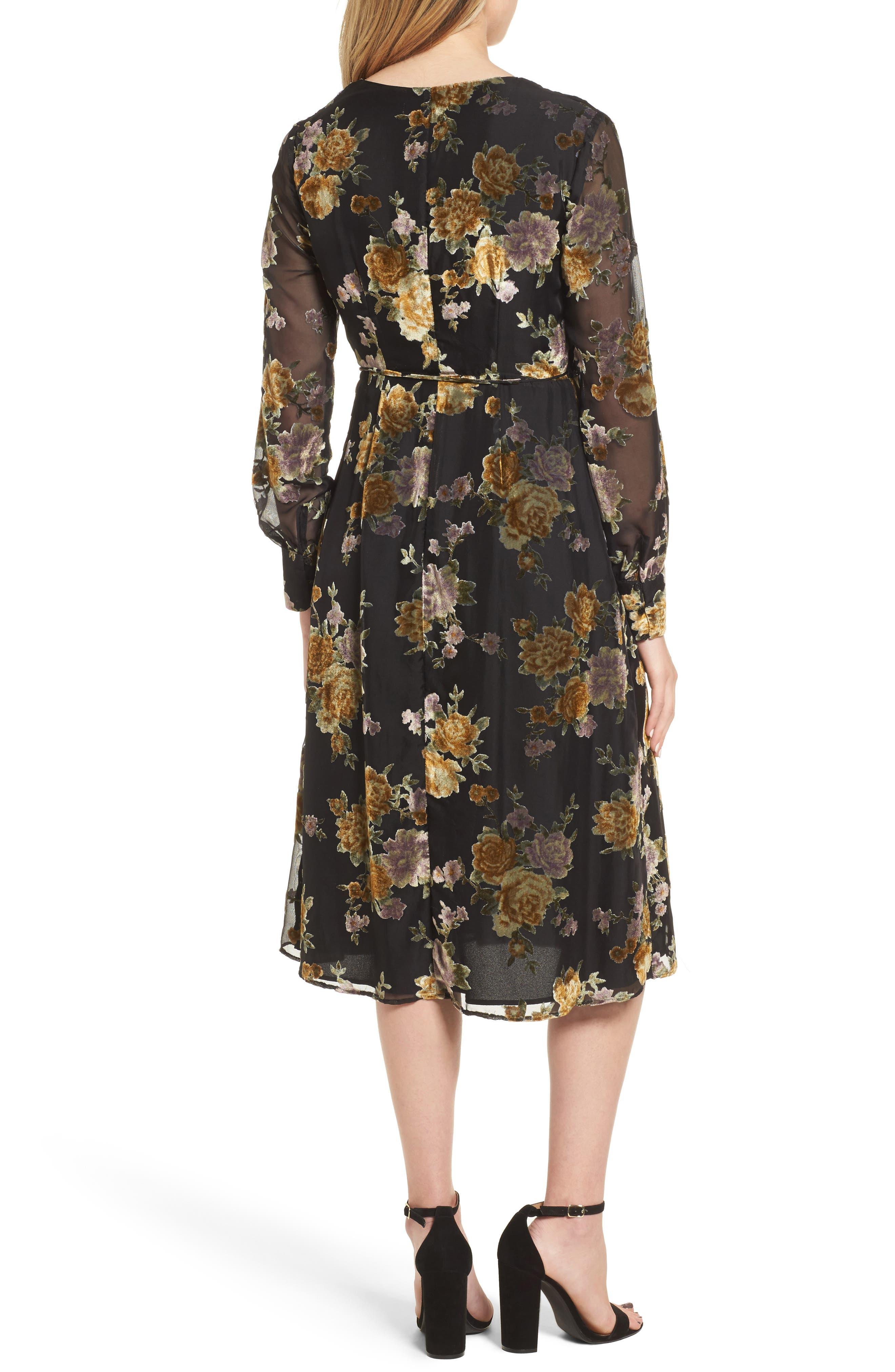 Sonya Wrap Midi Dress,                             Alternate thumbnail 2, color,                             003