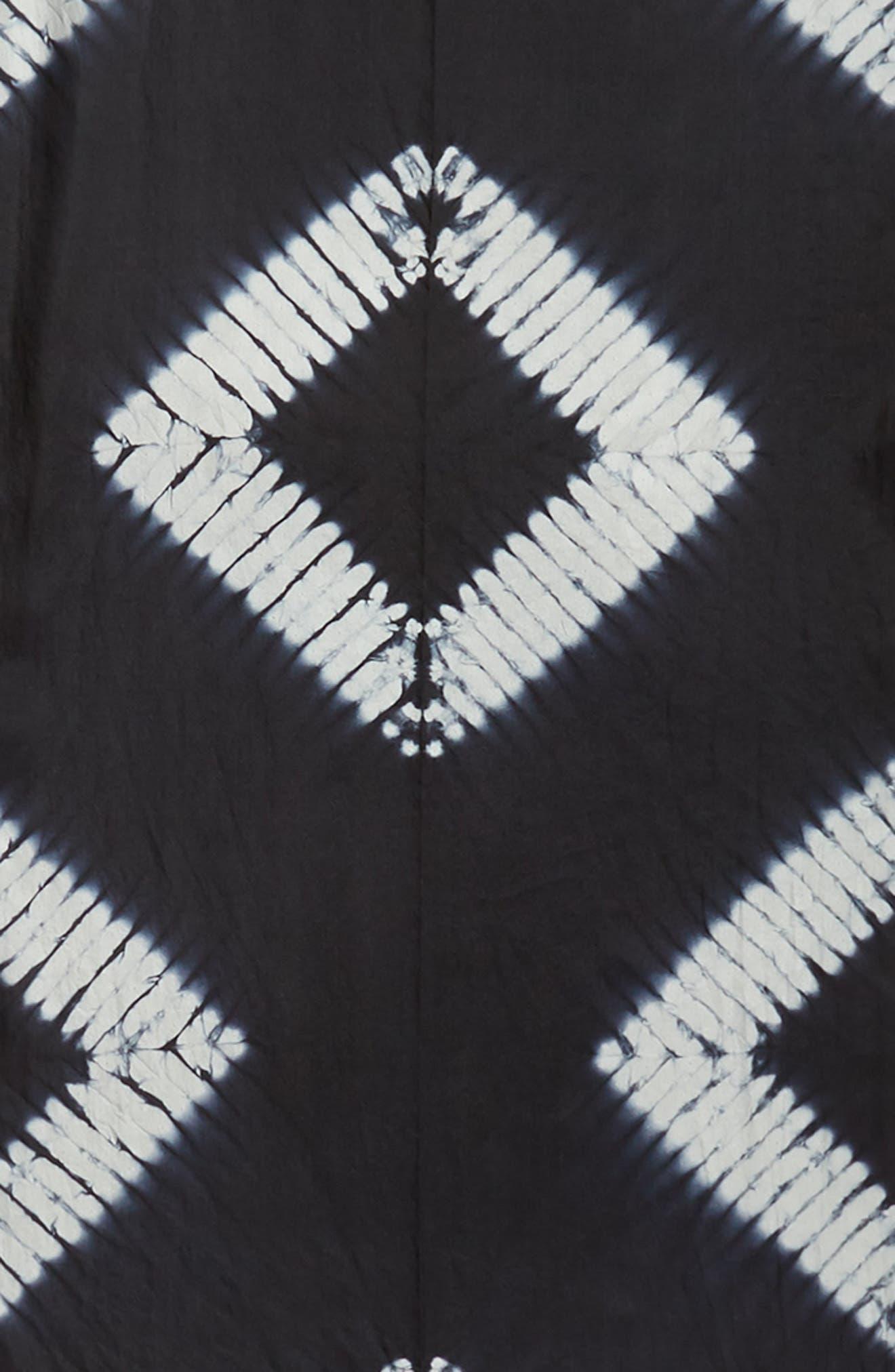 EILEEN FISHER,                             Tie Dye Silk Scarf,                             Alternate thumbnail 4, color,                             001