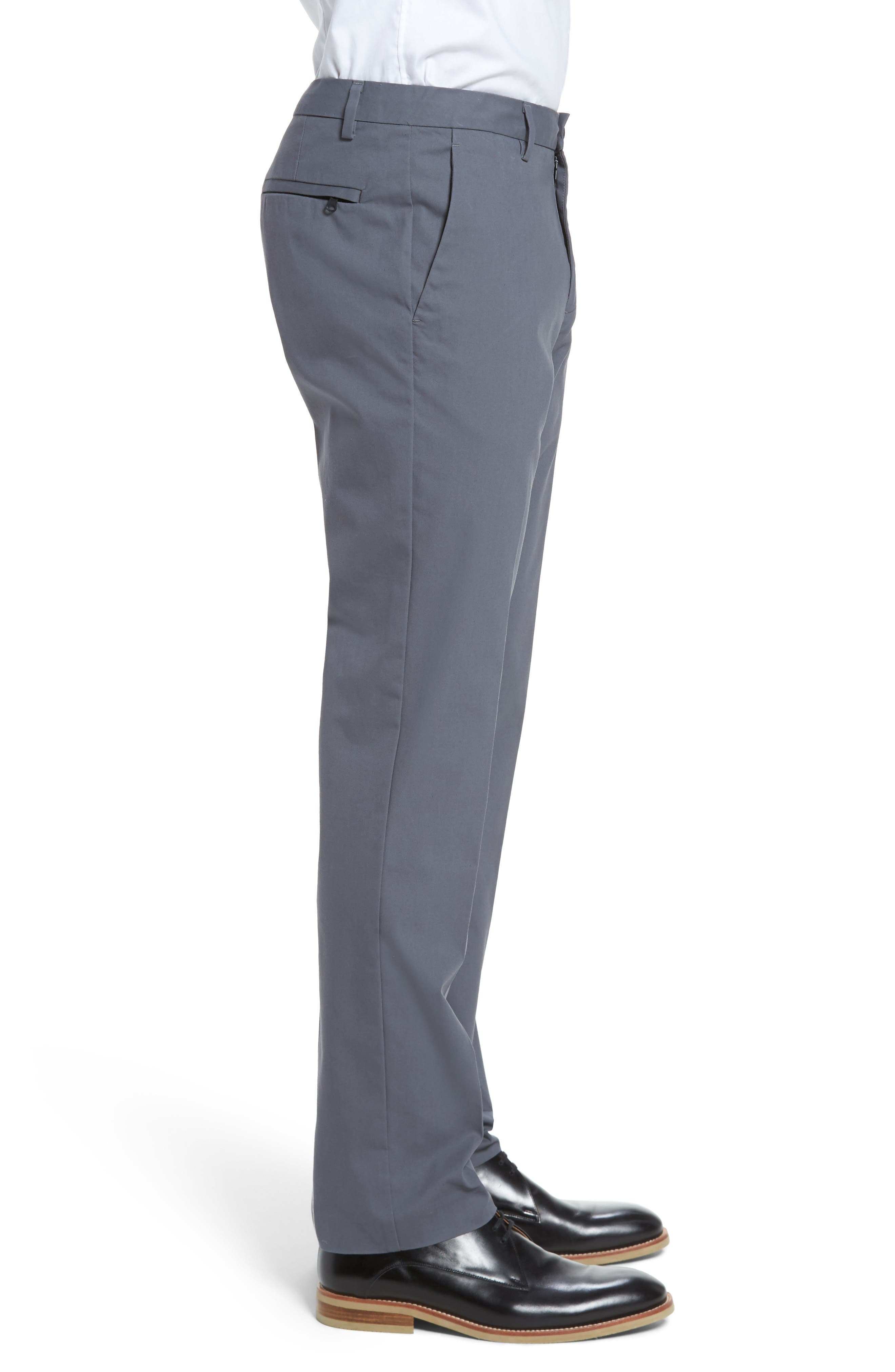 Slim Fit Tech Chinos,                             Alternate thumbnail 3, color,                             THUNDERCLOUD
