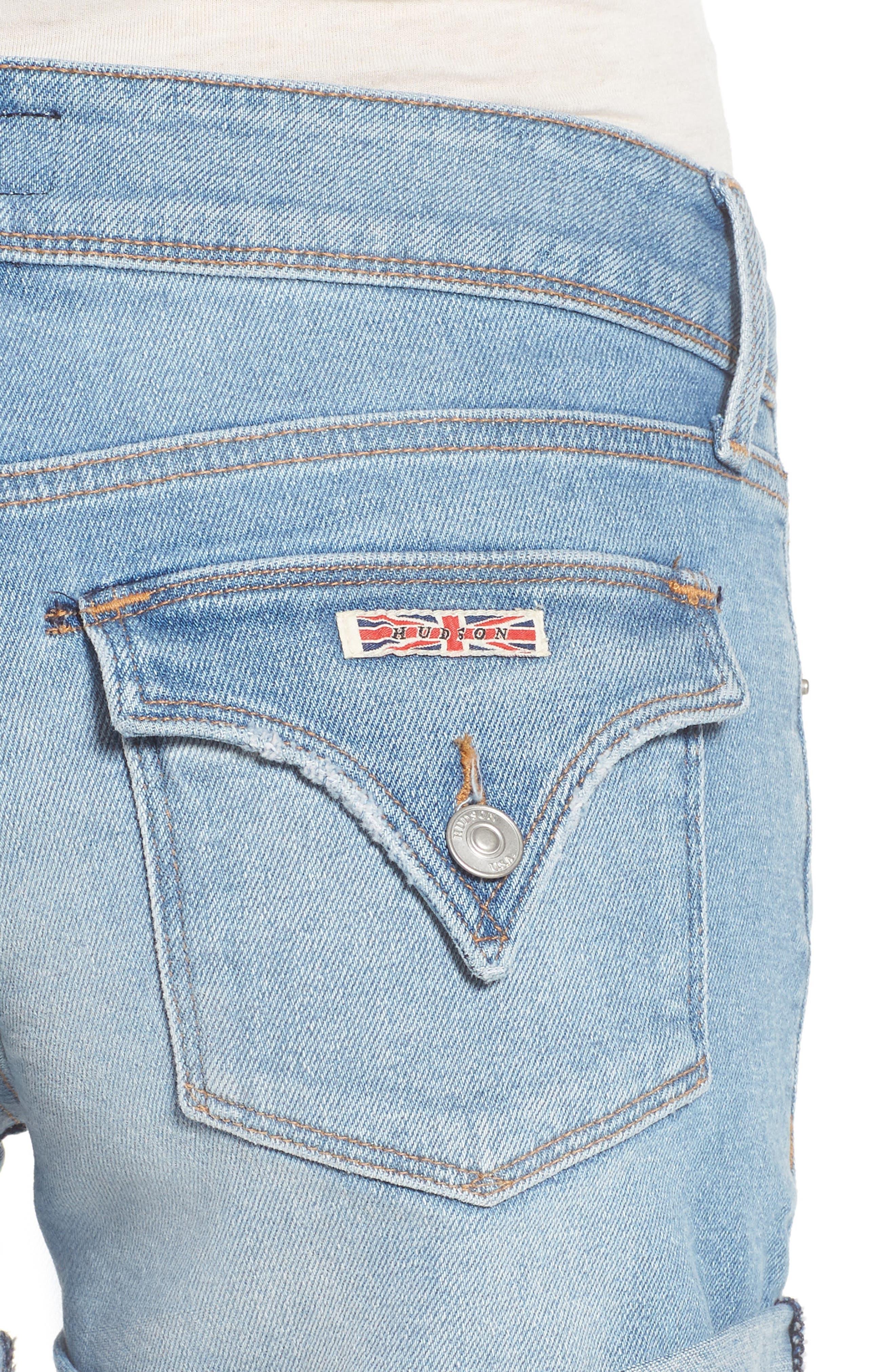 HUDSON JEANS,                             Croxley Cuff Denim Shorts,                             Alternate thumbnail 4, color,                             425