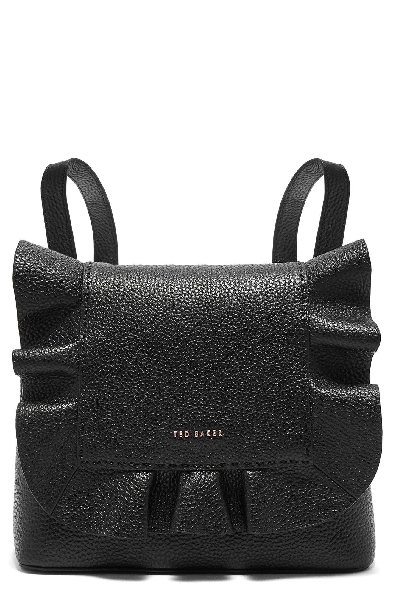 Rammira Leather Convertible Backpack,                             Main thumbnail 1, color,                             001