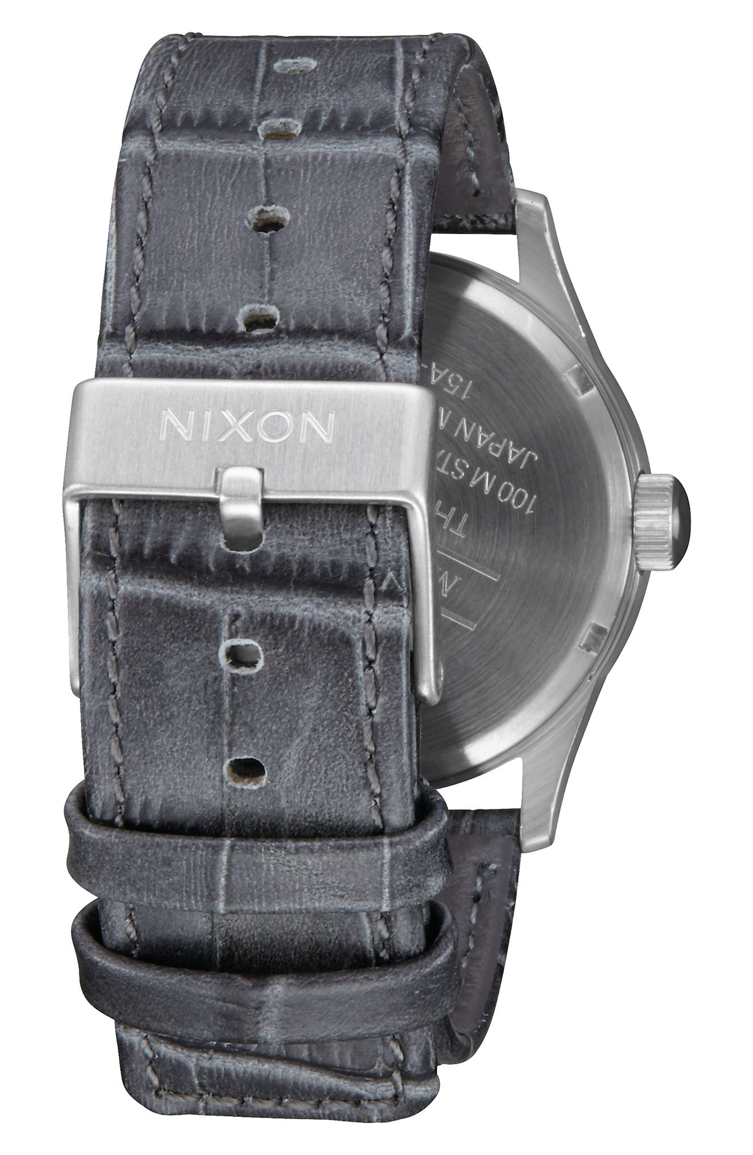 The Sentry Leather Strap Watch, 42mm,                             Alternate thumbnail 65, color,