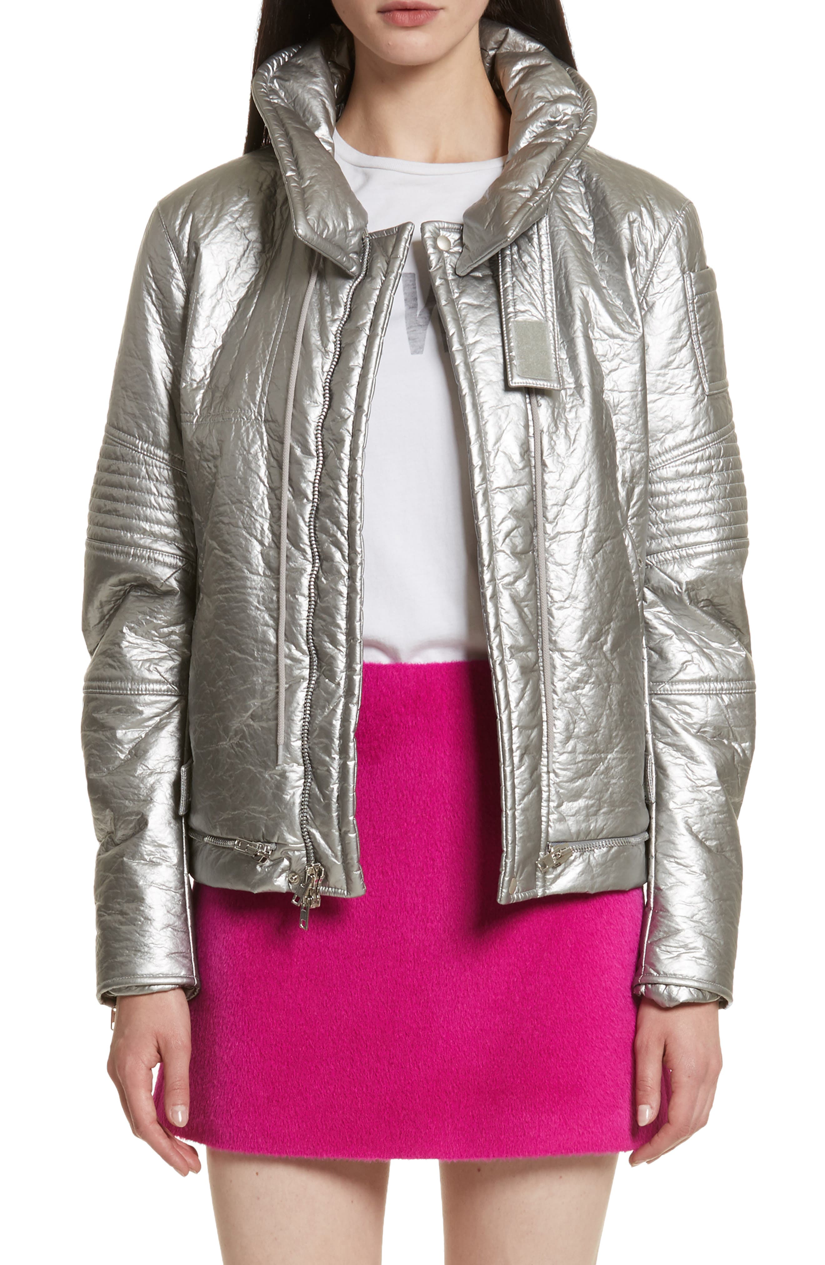 Re-Edition Astro Moto Jacket,                             Main thumbnail 1, color,                             SILVER