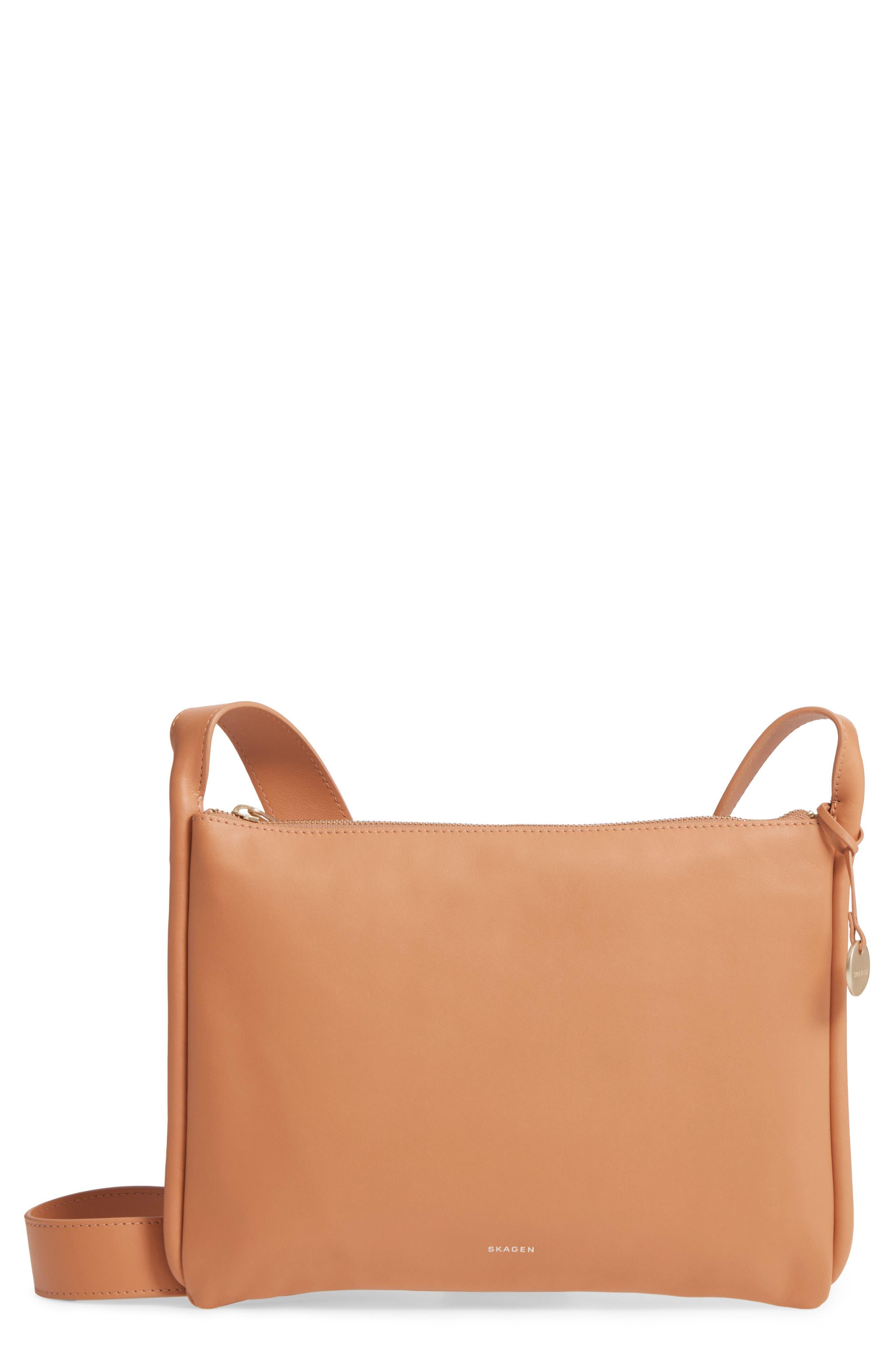 Slim Anesa Leather Crossbody Bag,                             Main thumbnail 2, color,