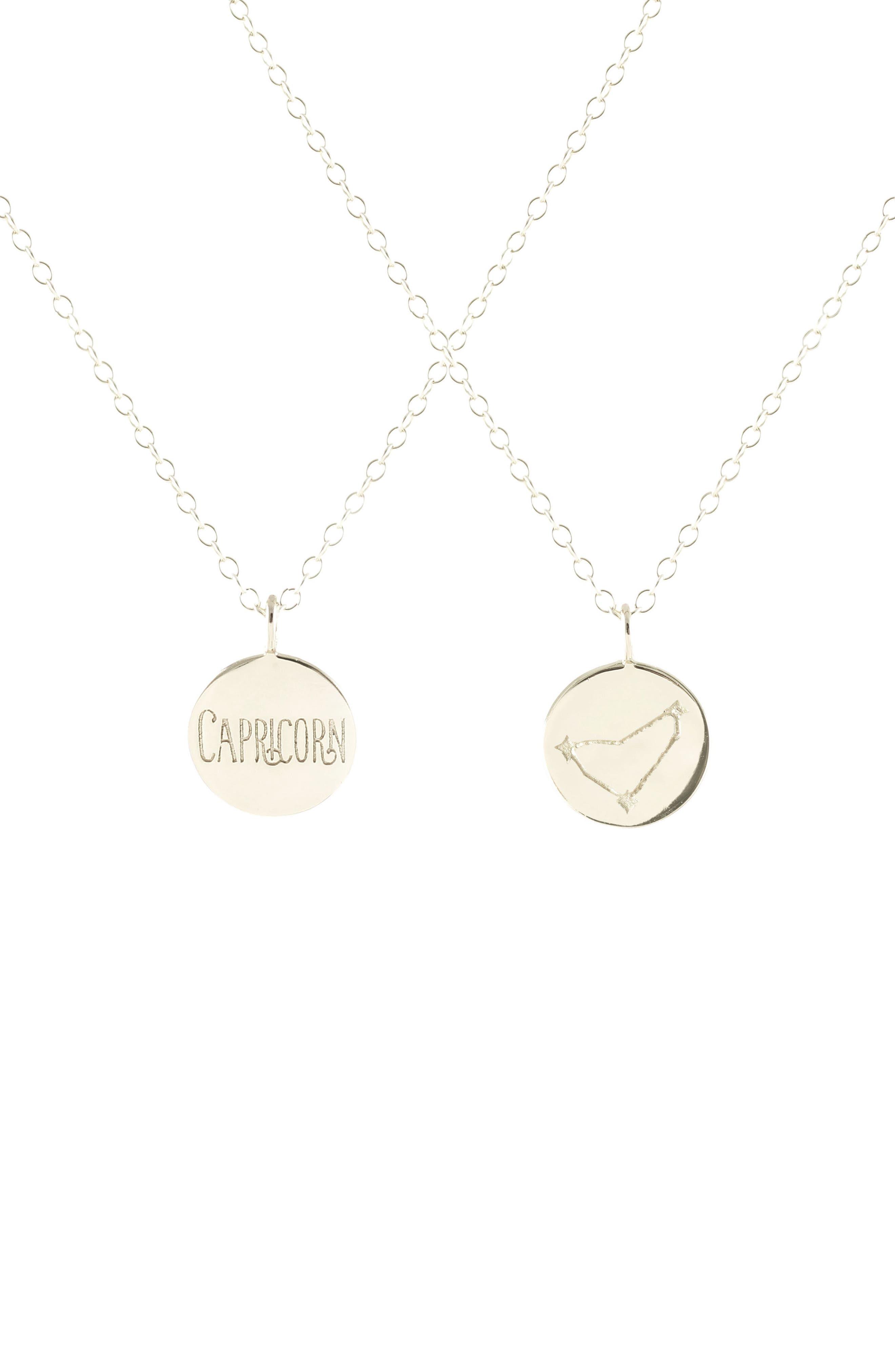 Zodiac Charm Necklace,                         Main,                         color,